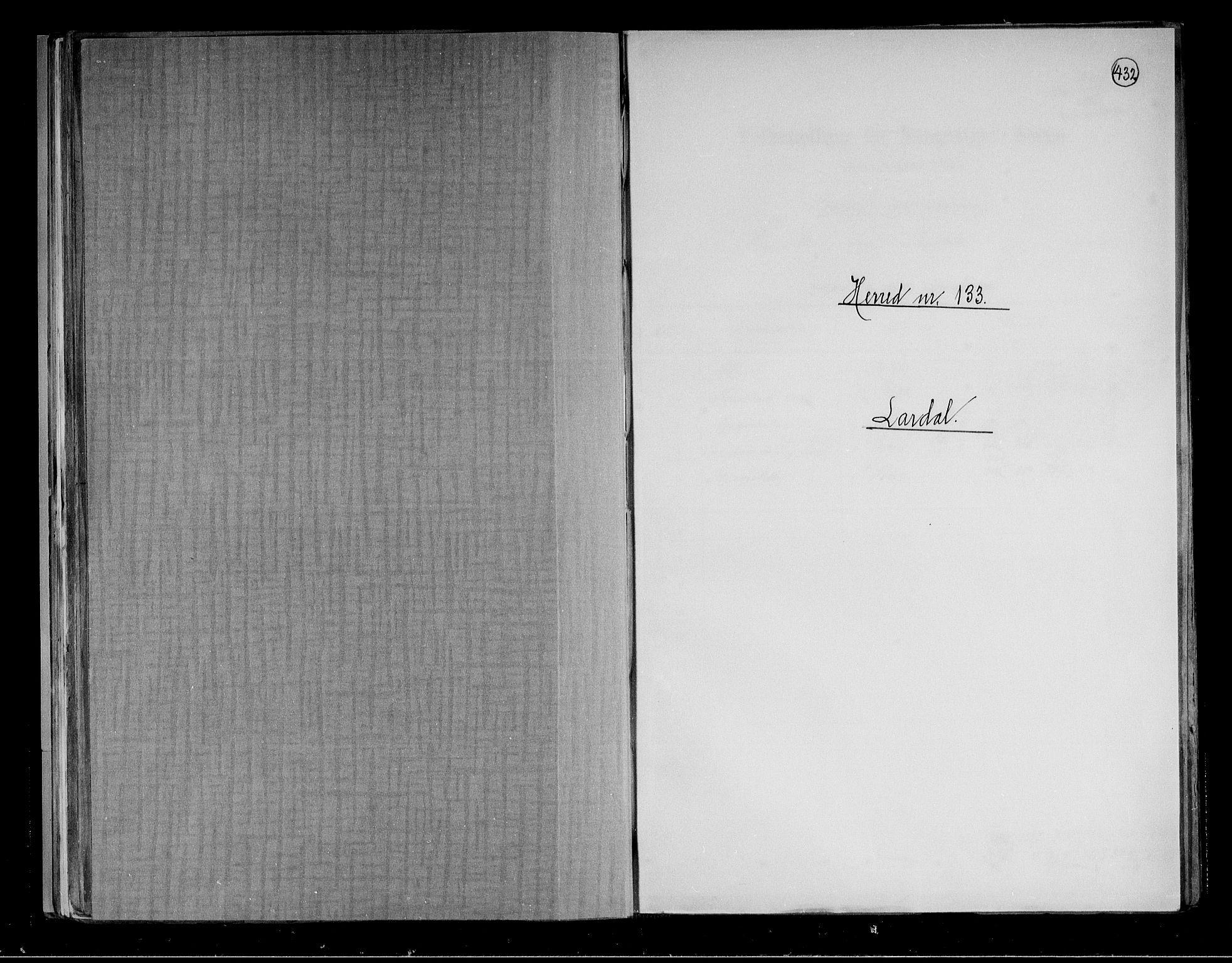 RA, Folketelling 1891 for 0728 Lardal herred, 1891, s. 1