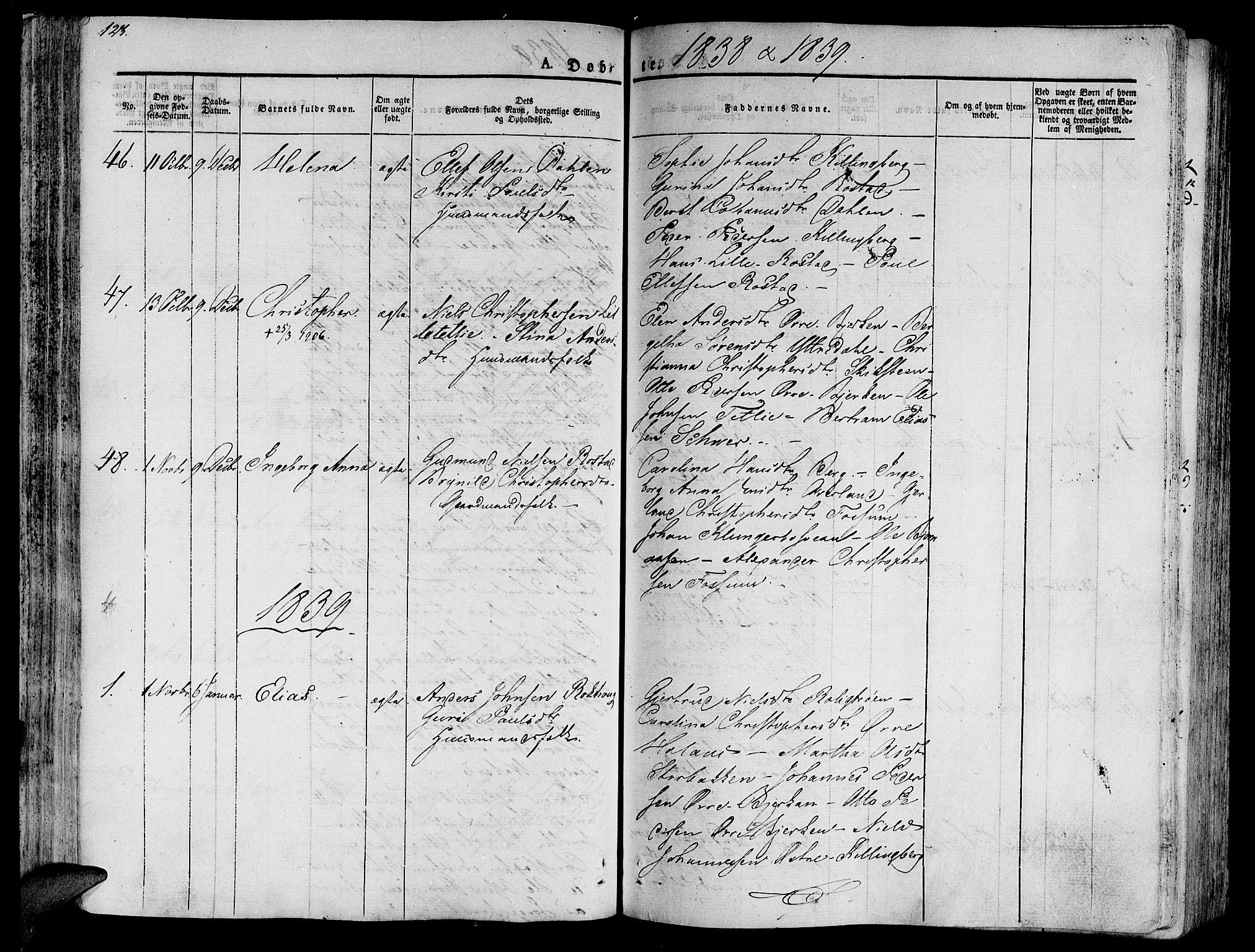 SAT, Ministerialprotokoller, klokkerbøker og fødselsregistre - Nord-Trøndelag, 701/L0006: Ministerialbok nr. 701A06, 1825-1841, s. 123