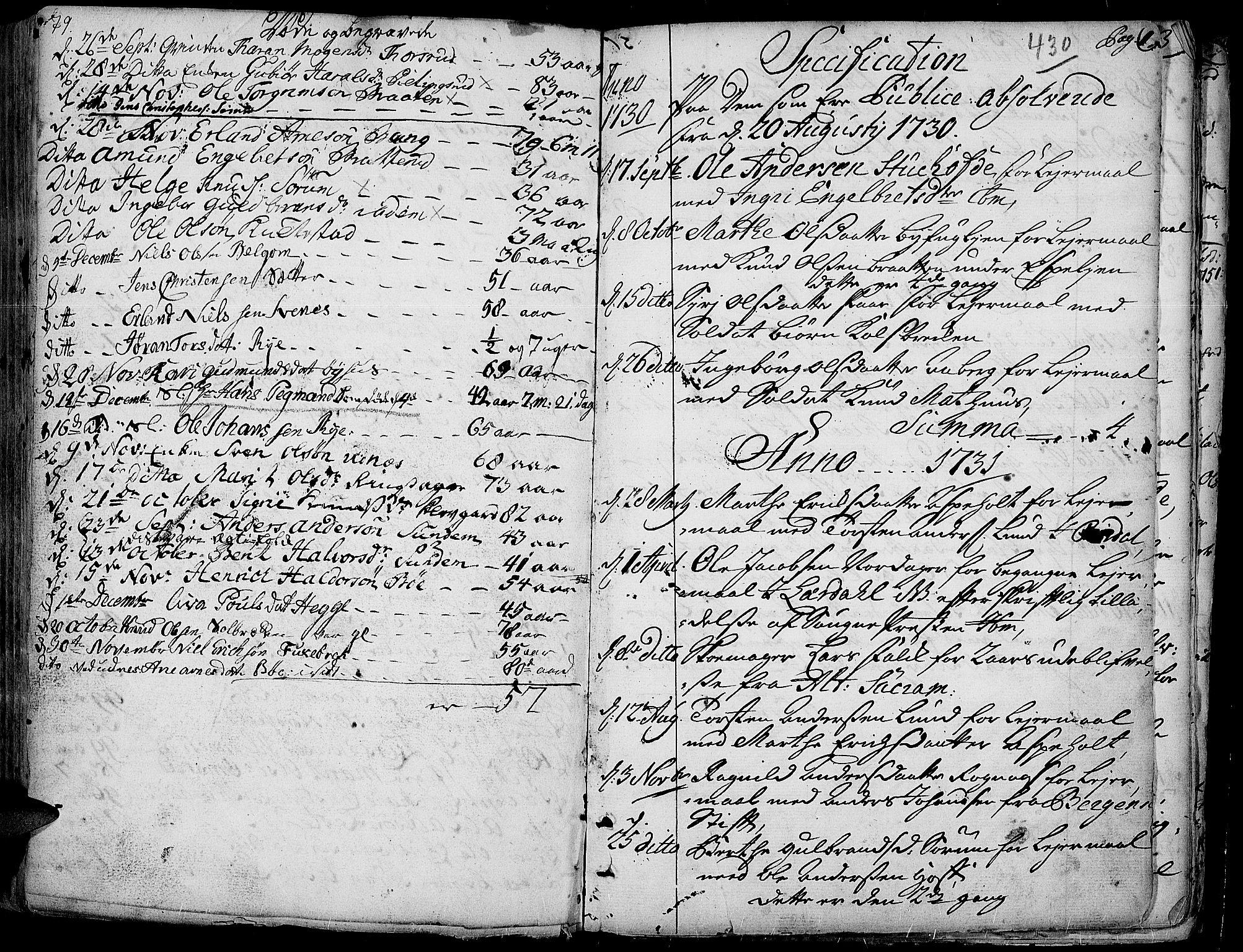 SAH, Aurdal prestekontor, Ministerialbok nr. 4, 1730-1762, s. 79-1
