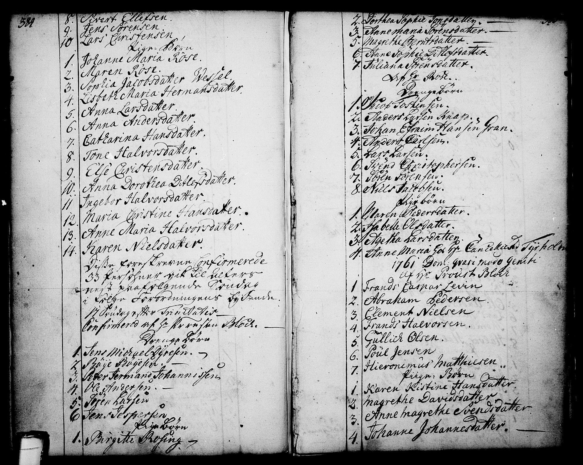 SAKO, Skien kirkebøker, F/Fa/L0003: Ministerialbok nr. 3, 1755-1791, s. 384-385