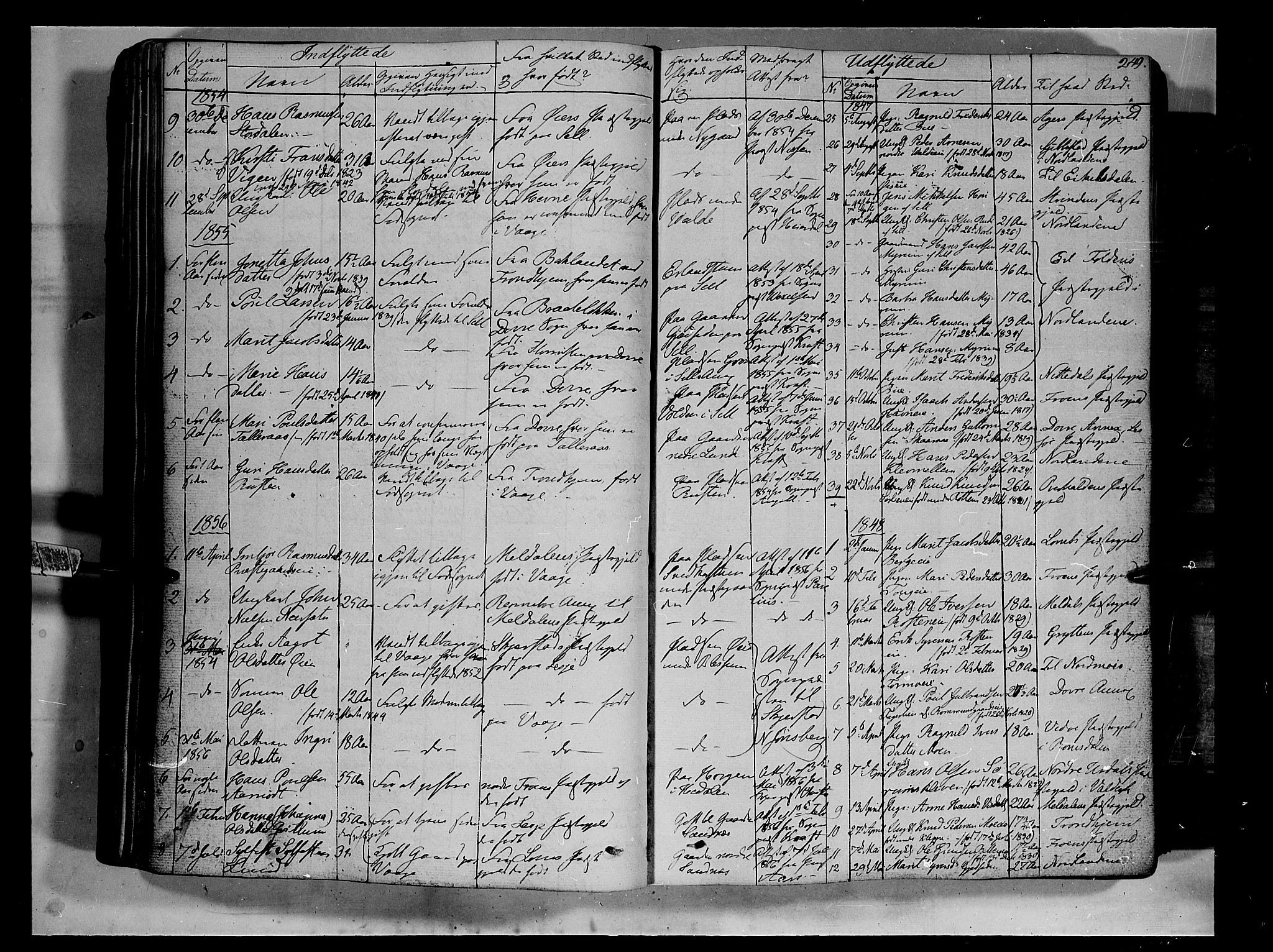 SAH, Vågå prestekontor, Ministerialbok nr. 5 /1, 1842-1856, s. 249