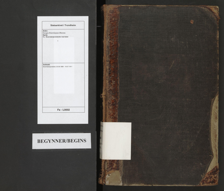 SAT, Norges Brannkasse Øksnes, Fa/L0002: Branntakstprotokoll, 1889-1911