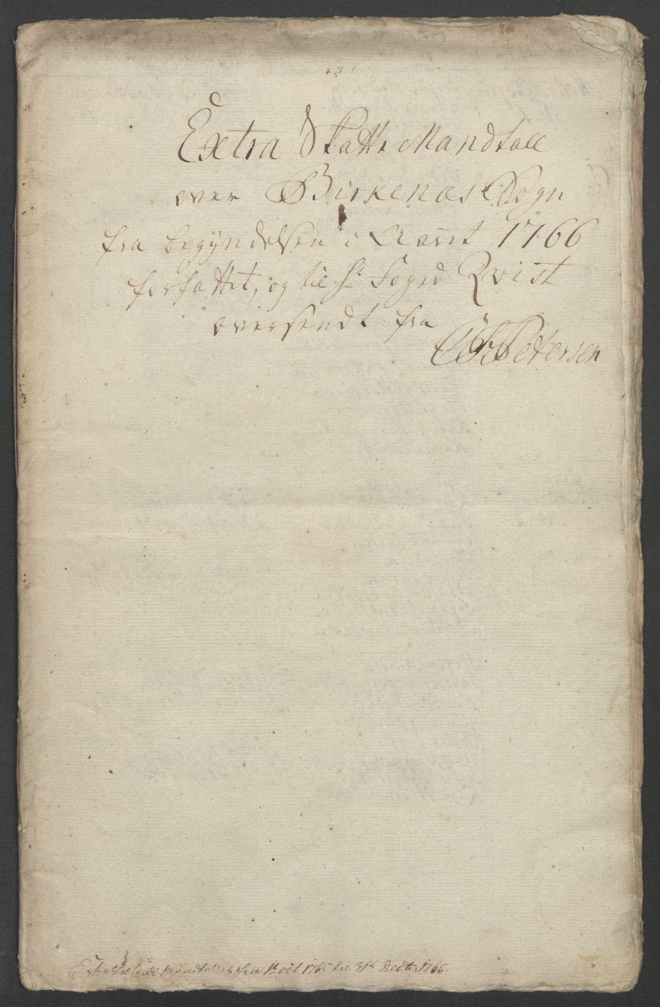 RA, Rentekammeret inntil 1814, Reviderte regnskaper, Fogderegnskap, R39/L2424: Ekstraskatten Nedenes, 1762-1767, s. 297