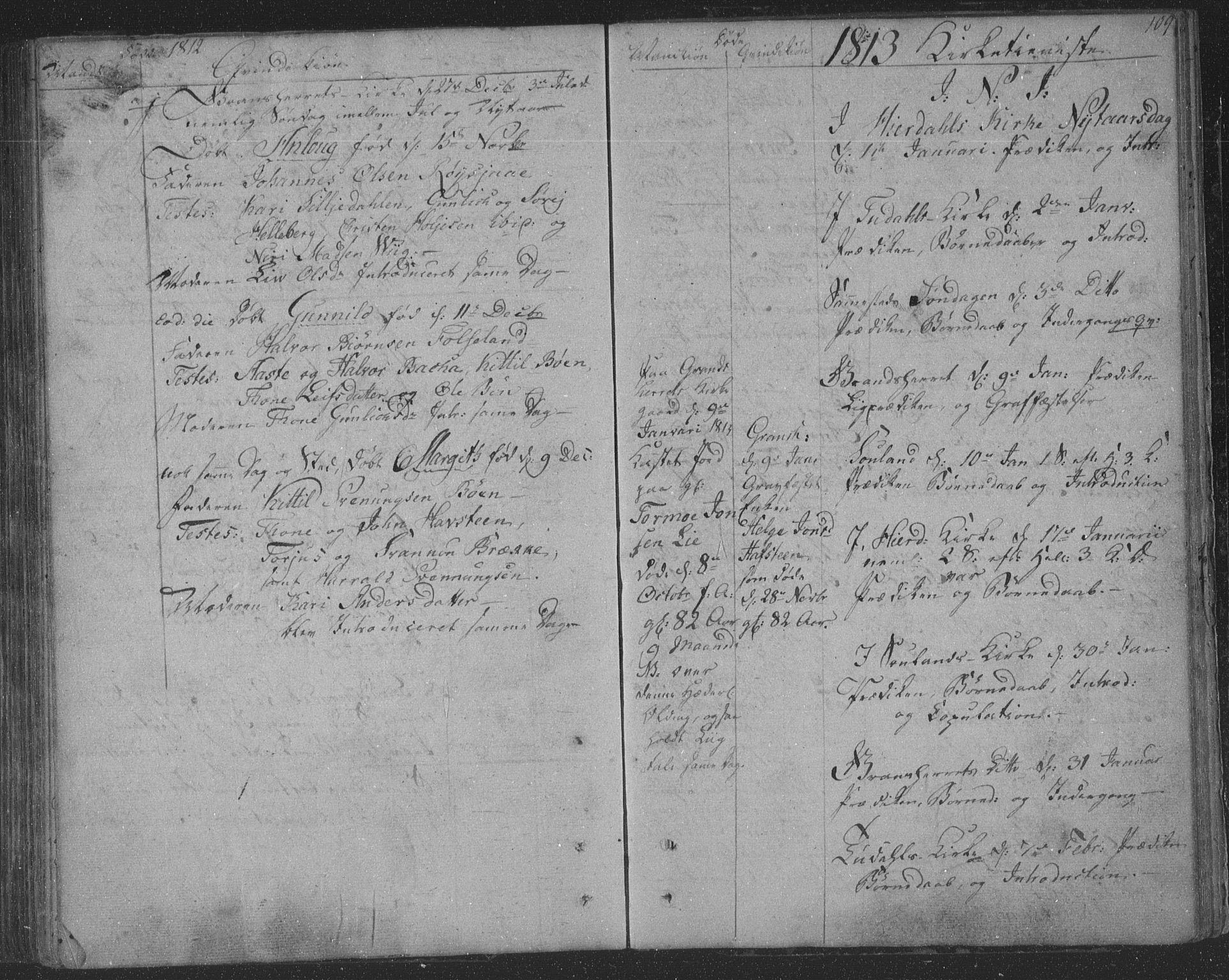 SAKO, Hjartdal kirkebøker, F/Fa/L0006: Ministerialbok nr. I 6, 1801-1814, s. 109