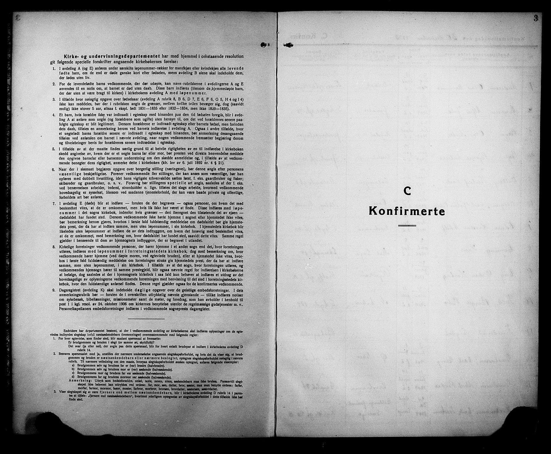 SAKO, Rjukan kirkebøker, G/Ga/L0004: Klokkerbok nr. 4, 1923-1932, s. 3