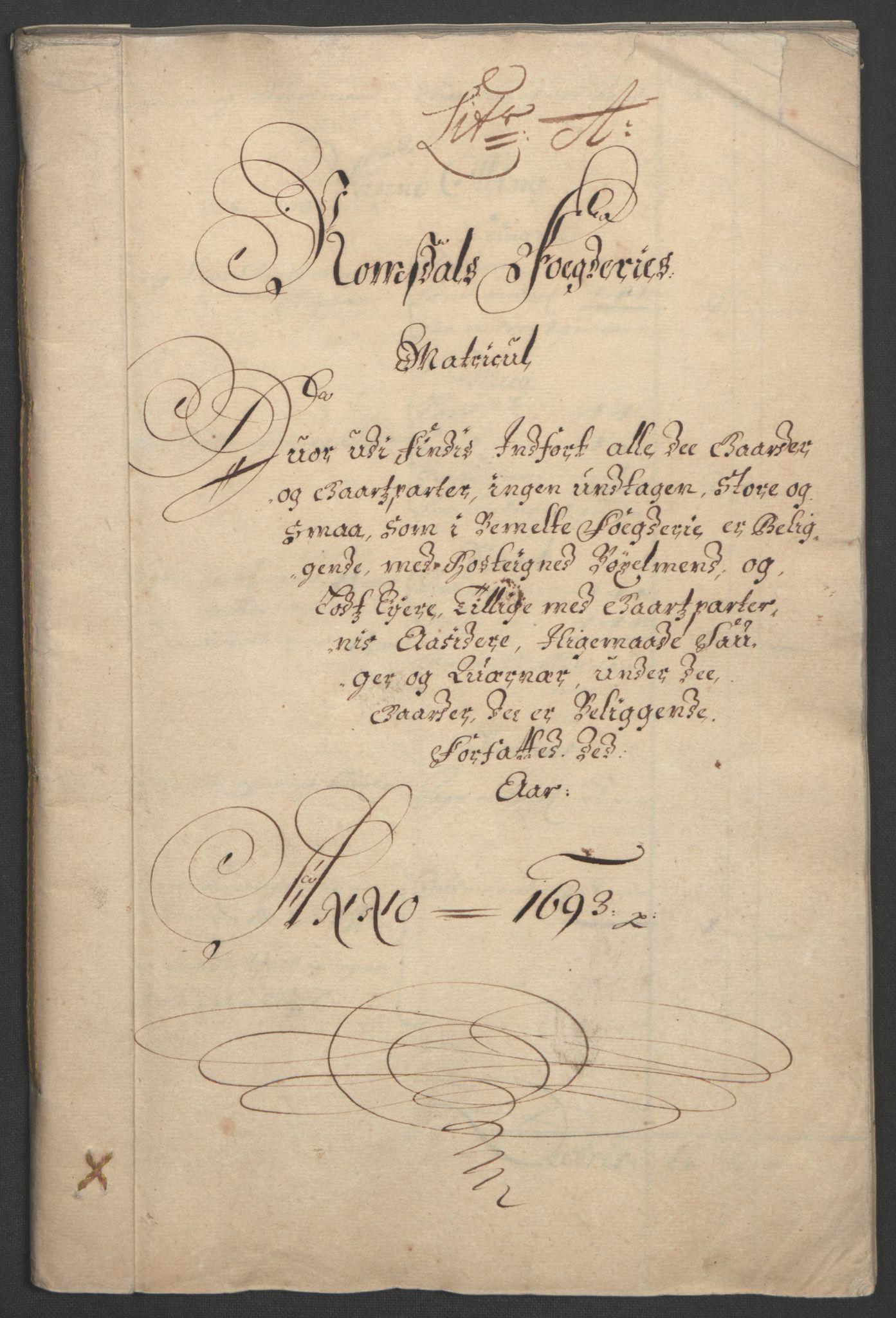 RA, Rentekammeret inntil 1814, Reviderte regnskaper, Fogderegnskap, R55/L3651: Fogderegnskap Romsdal, 1693-1694, s. 9