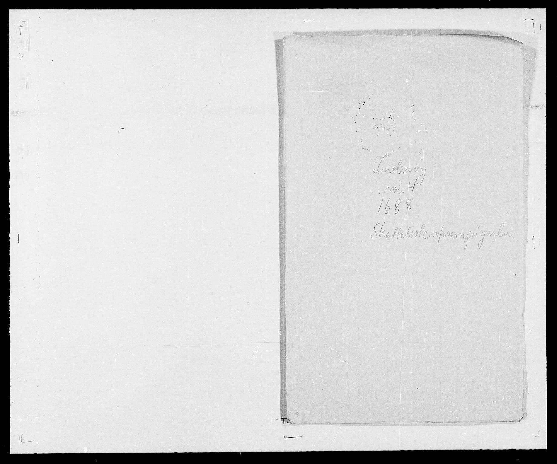 RA, Rentekammeret inntil 1814, Reviderte regnskaper, Fogderegnskap, R63/L4306: Fogderegnskap Inderøy, 1687-1689, s. 370