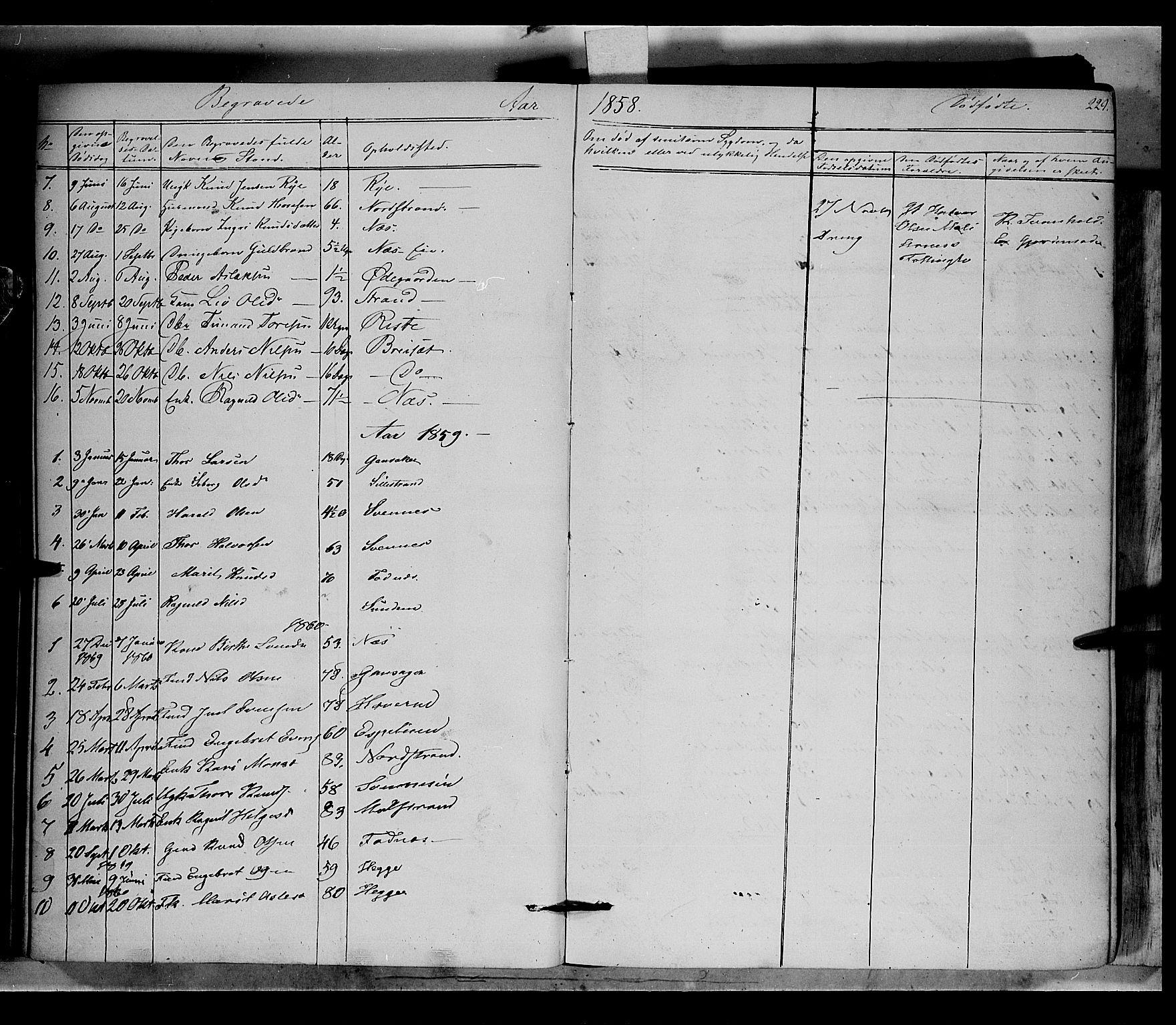 SAH, Nord-Aurdal prestekontor, Ministerialbok nr. 5, 1842-1863, s. 229