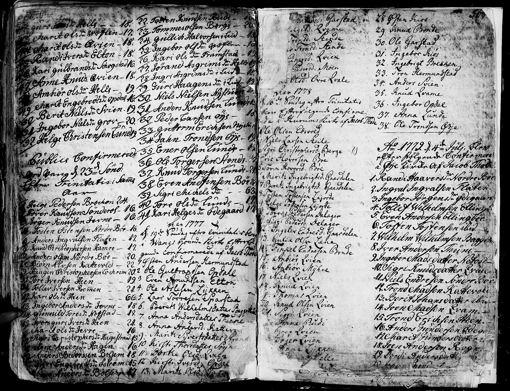 SAH, Vang prestekontor, Valdres, Ministerialbok nr. 1, 1730-1796, s. 558-559