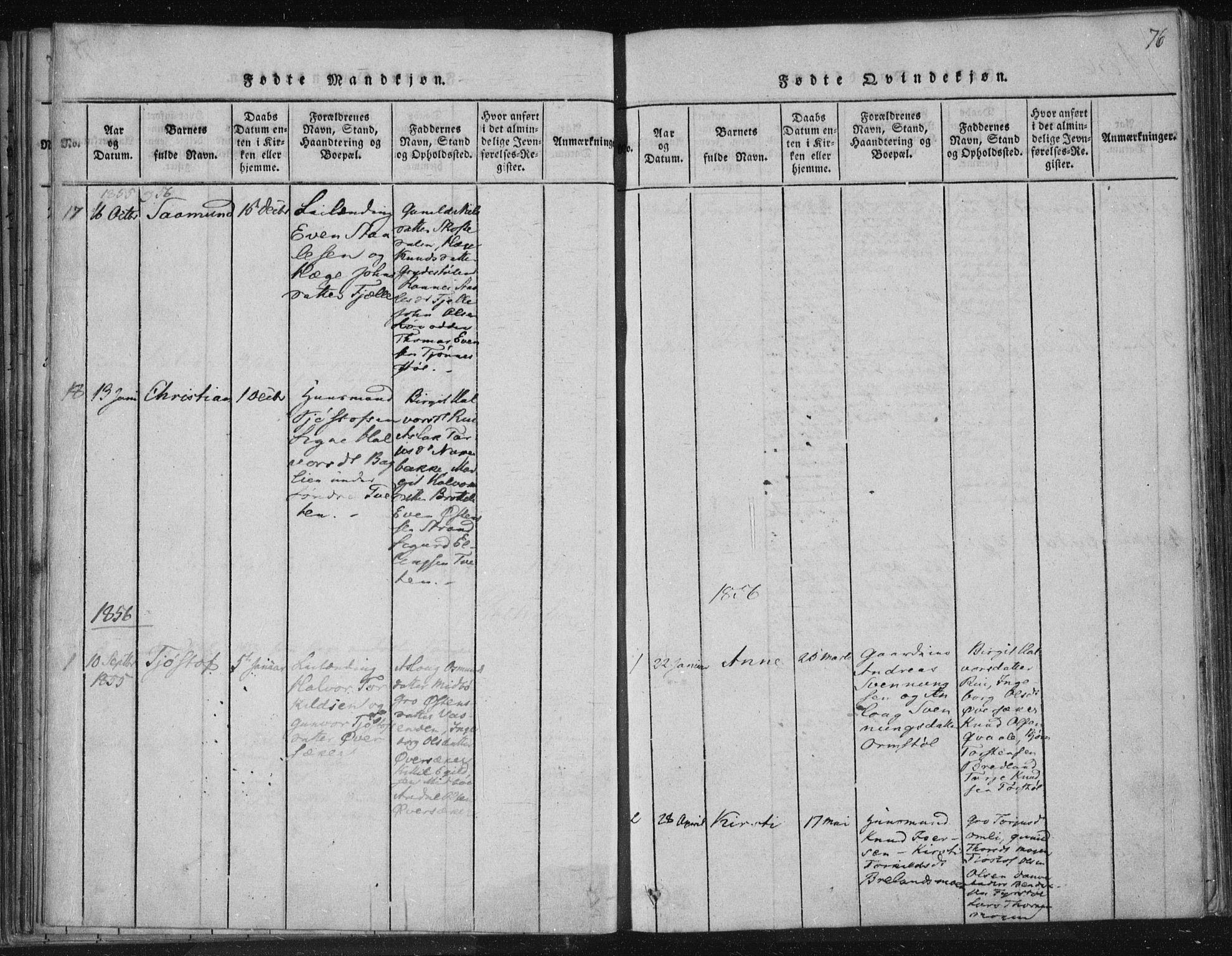 SAKO, Lårdal kirkebøker, F/Fc/L0001: Ministerialbok nr. III 1, 1815-1860, s. 76
