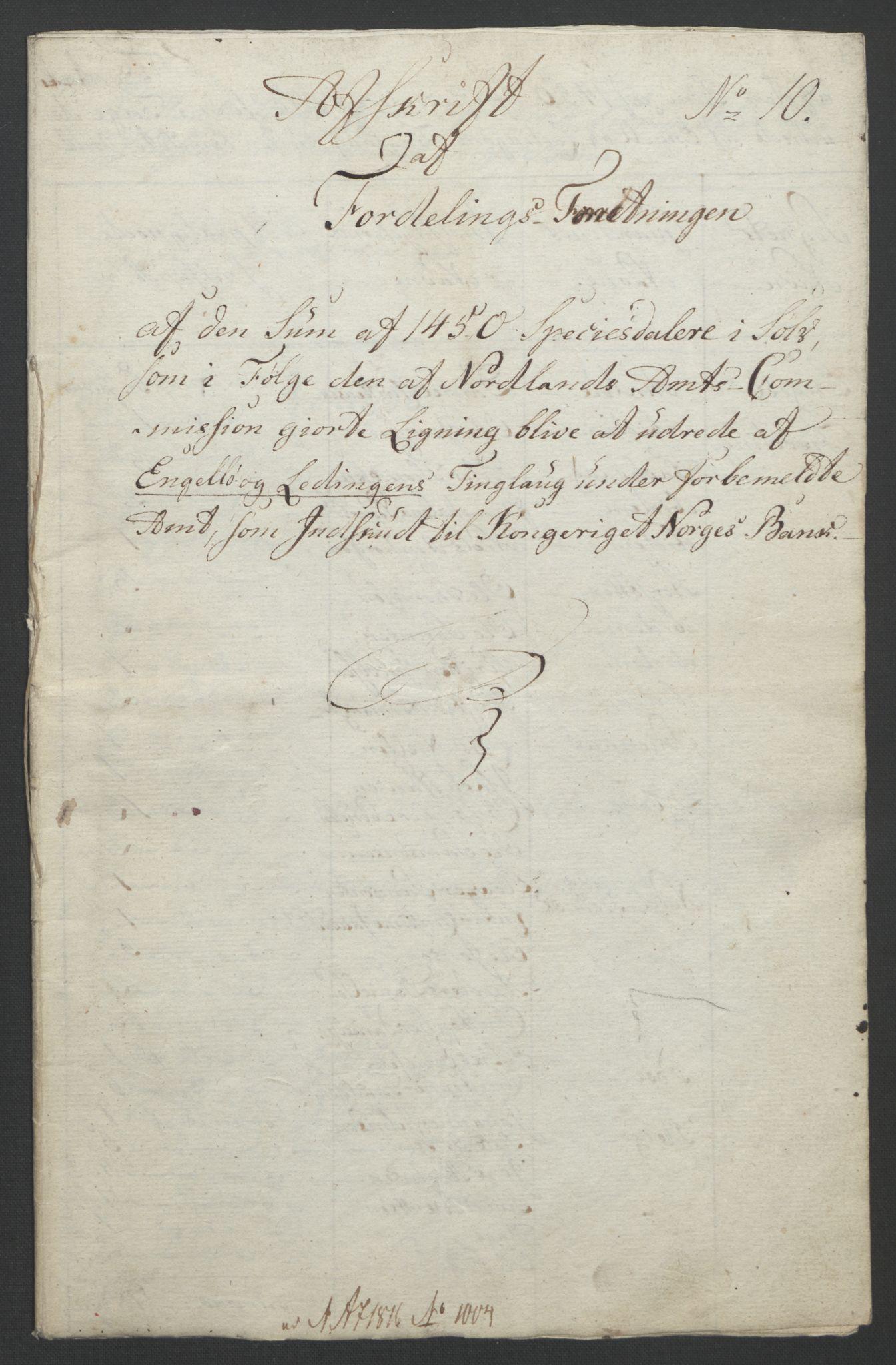 NOBA, Norges Bank/Sølvskatten 1816*, 1816-1821, s. 47