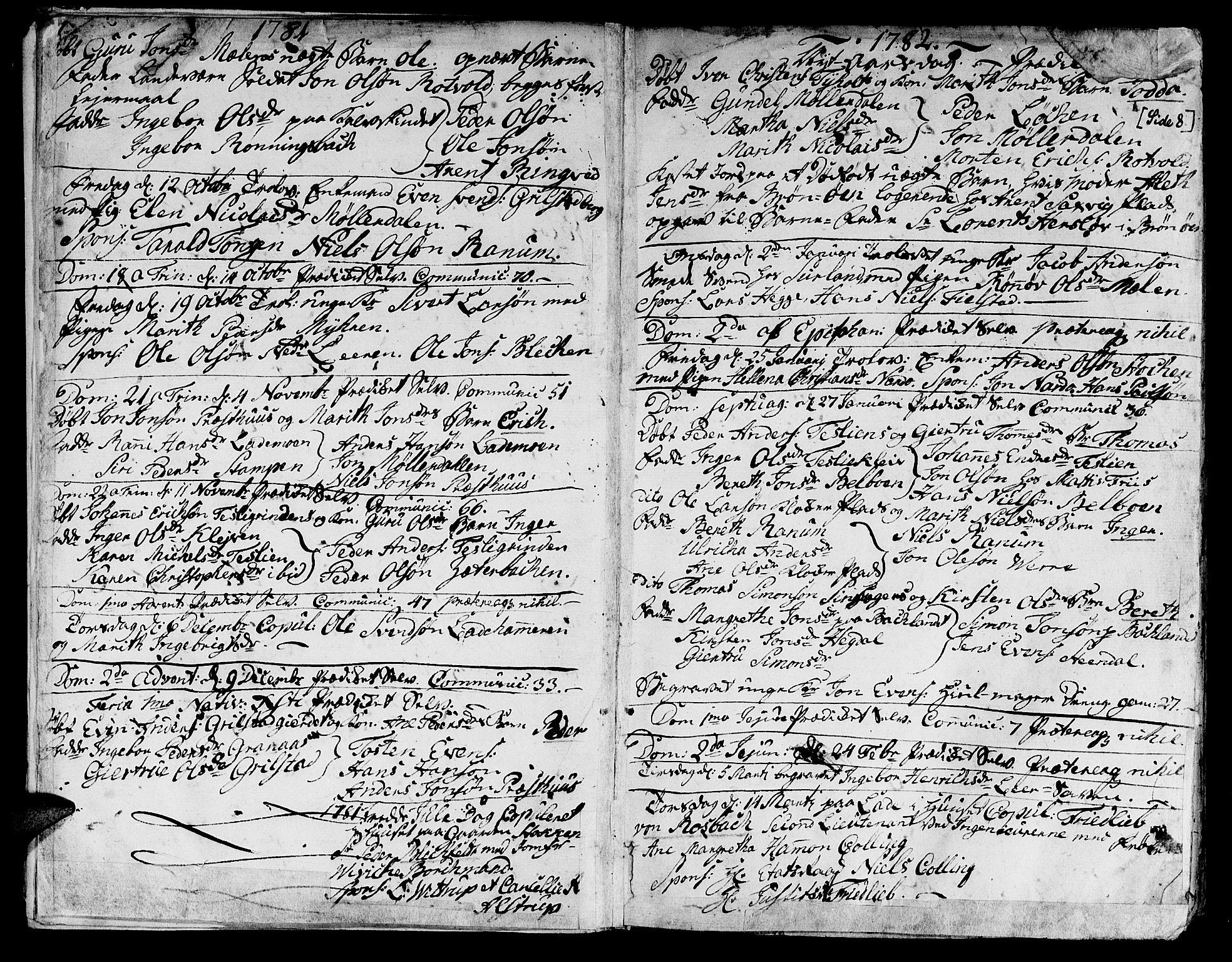 SAT, Ministerialprotokoller, klokkerbøker og fødselsregistre - Sør-Trøndelag, 606/L0280: Ministerialbok nr. 606A02 /1, 1781-1817, s. 7-8