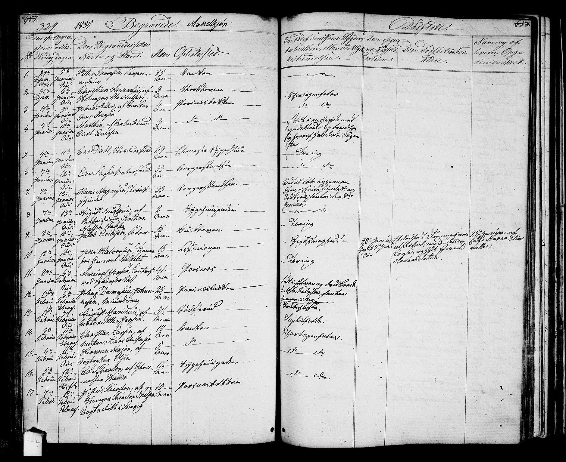 SAO, Halden prestekontor Kirkebøker, G/Ga/L0005a: Klokkerbok nr. 5A, 1855-1864, s. 329