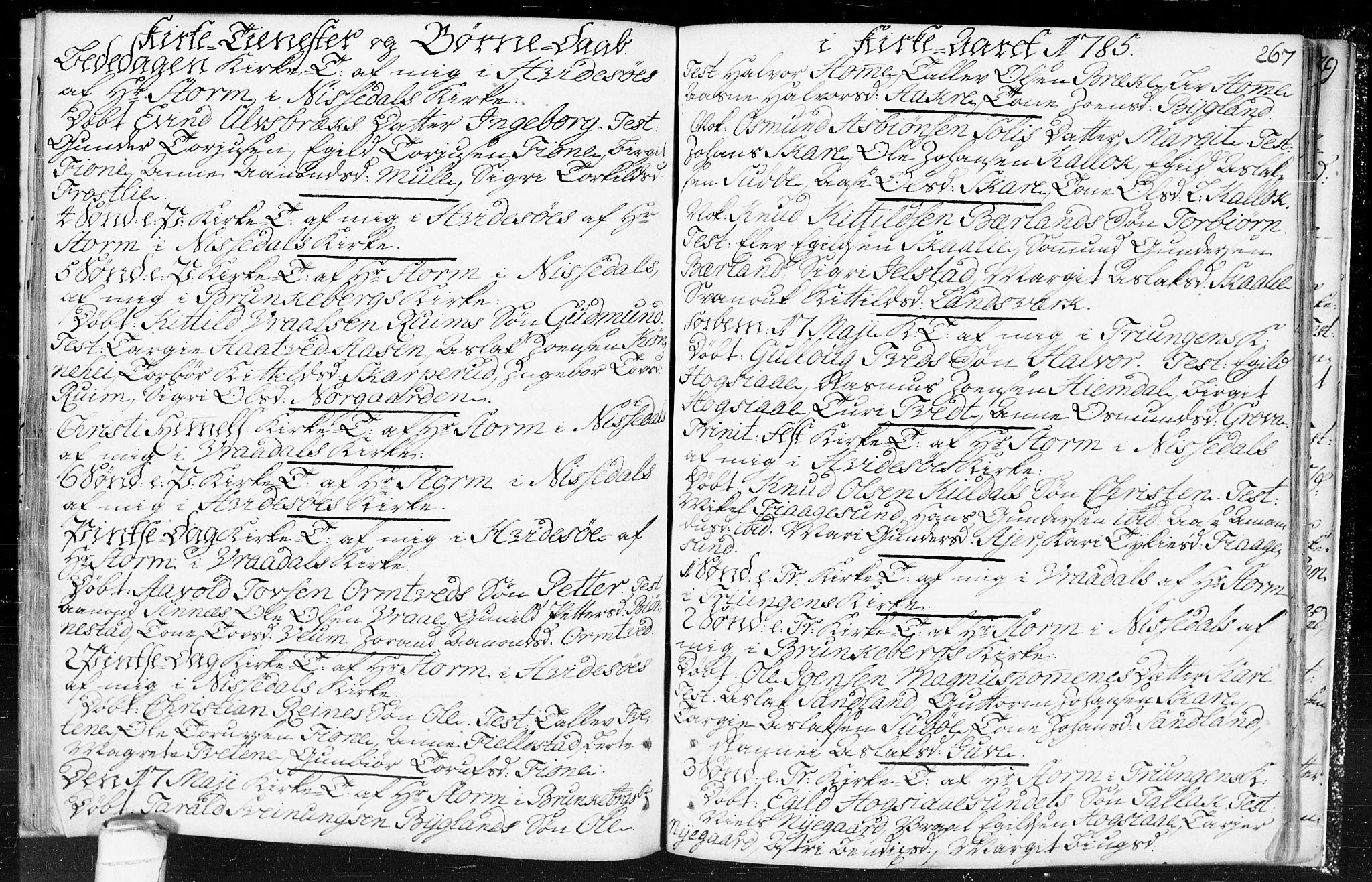SAKO, Kviteseid kirkebøker, F/Fa/L0002: Ministerialbok nr. I 2, 1773-1786, s. 267
