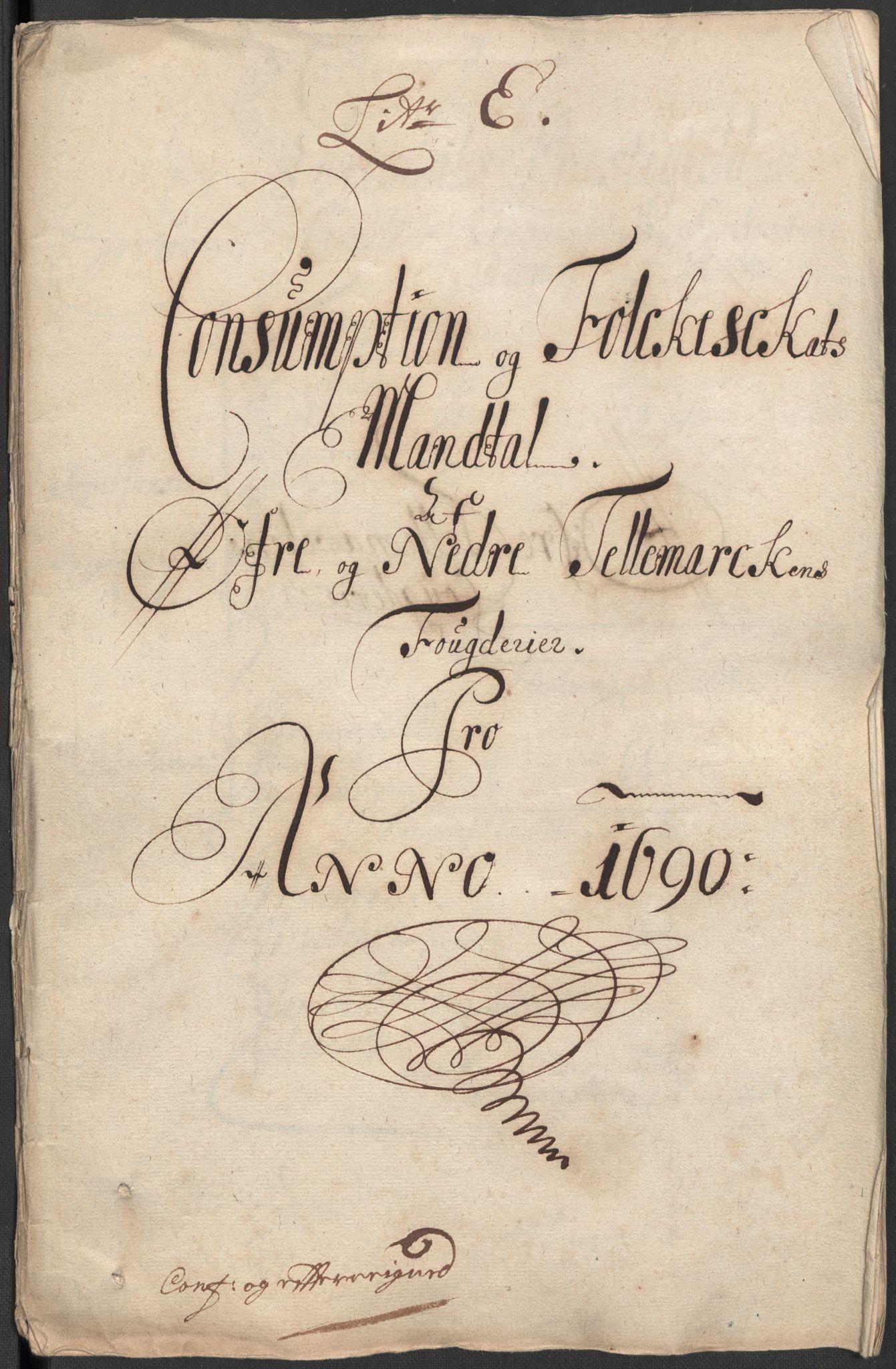RA, Rentekammeret inntil 1814, Reviderte regnskaper, Fogderegnskap, R35/L2089: Fogderegnskap Øvre og Nedre Telemark, 1690-1692, s. 74