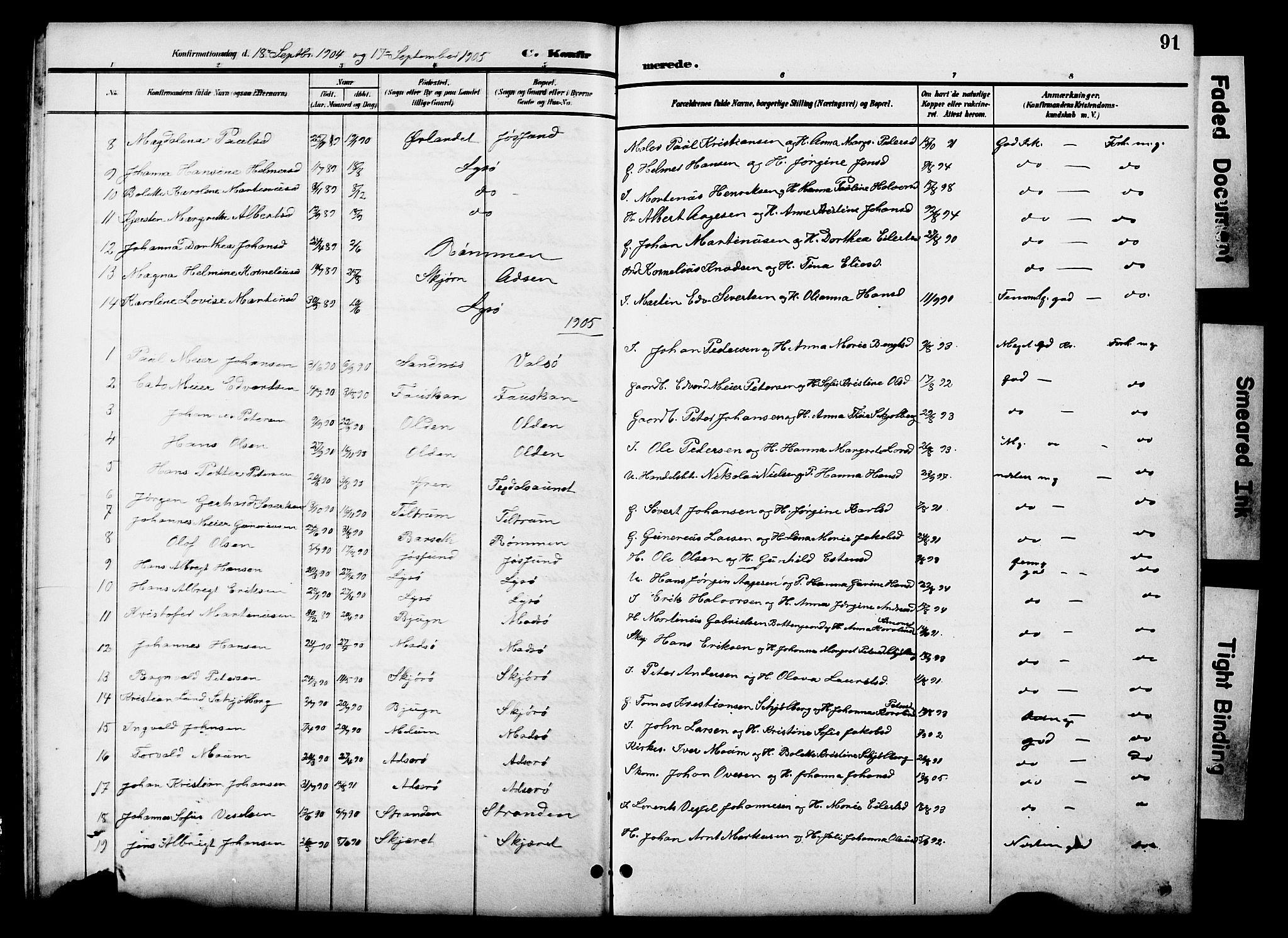 SAT, Ministerialprotokoller, klokkerbøker og fødselsregistre - Sør-Trøndelag, 654/L0666: Klokkerbok nr. 654C02, 1901-1925, s. 91