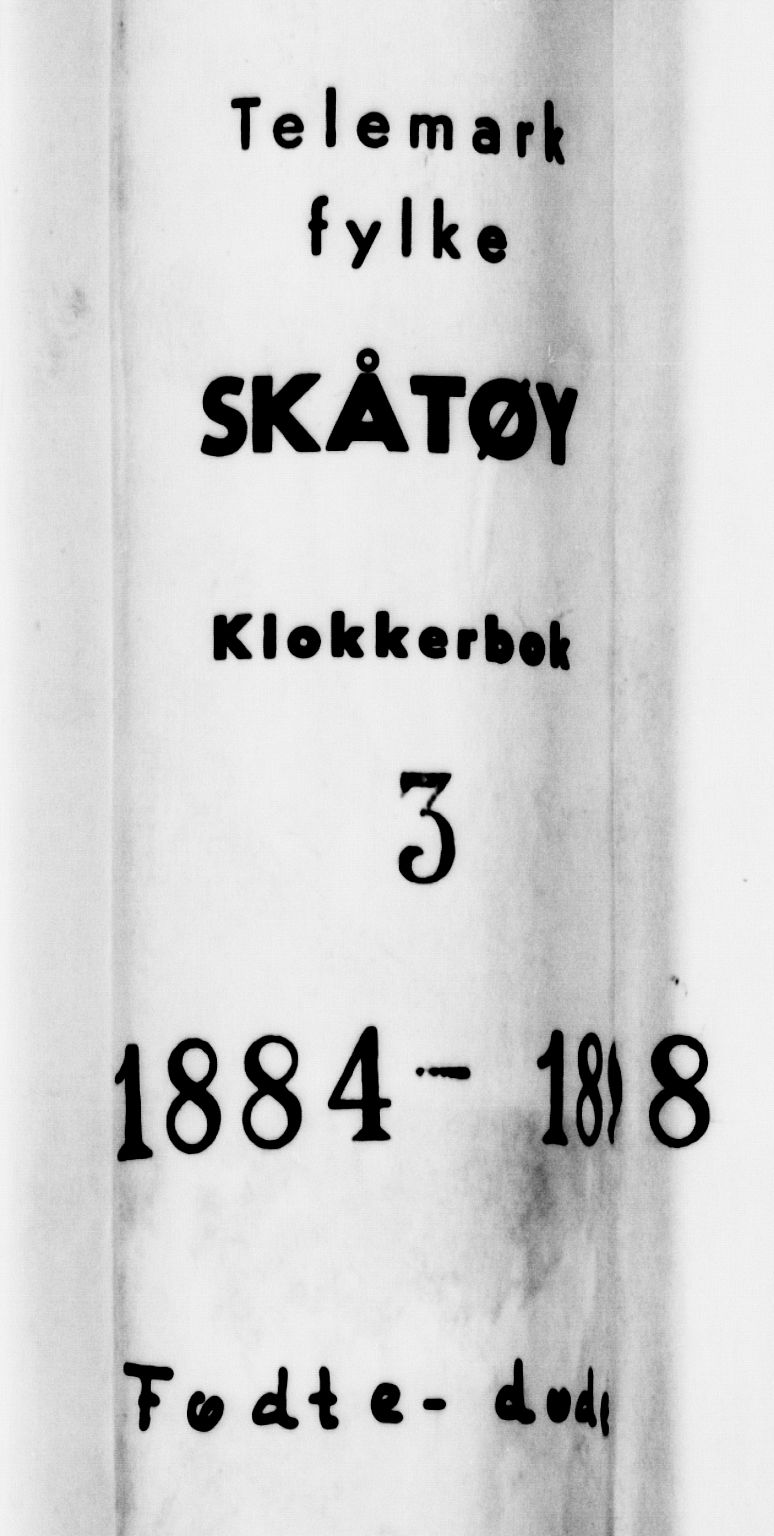 SAKO, Skåtøy kirkebøker, G/Ga/L0003: Klokkerbok nr. I 3, 1884-1898