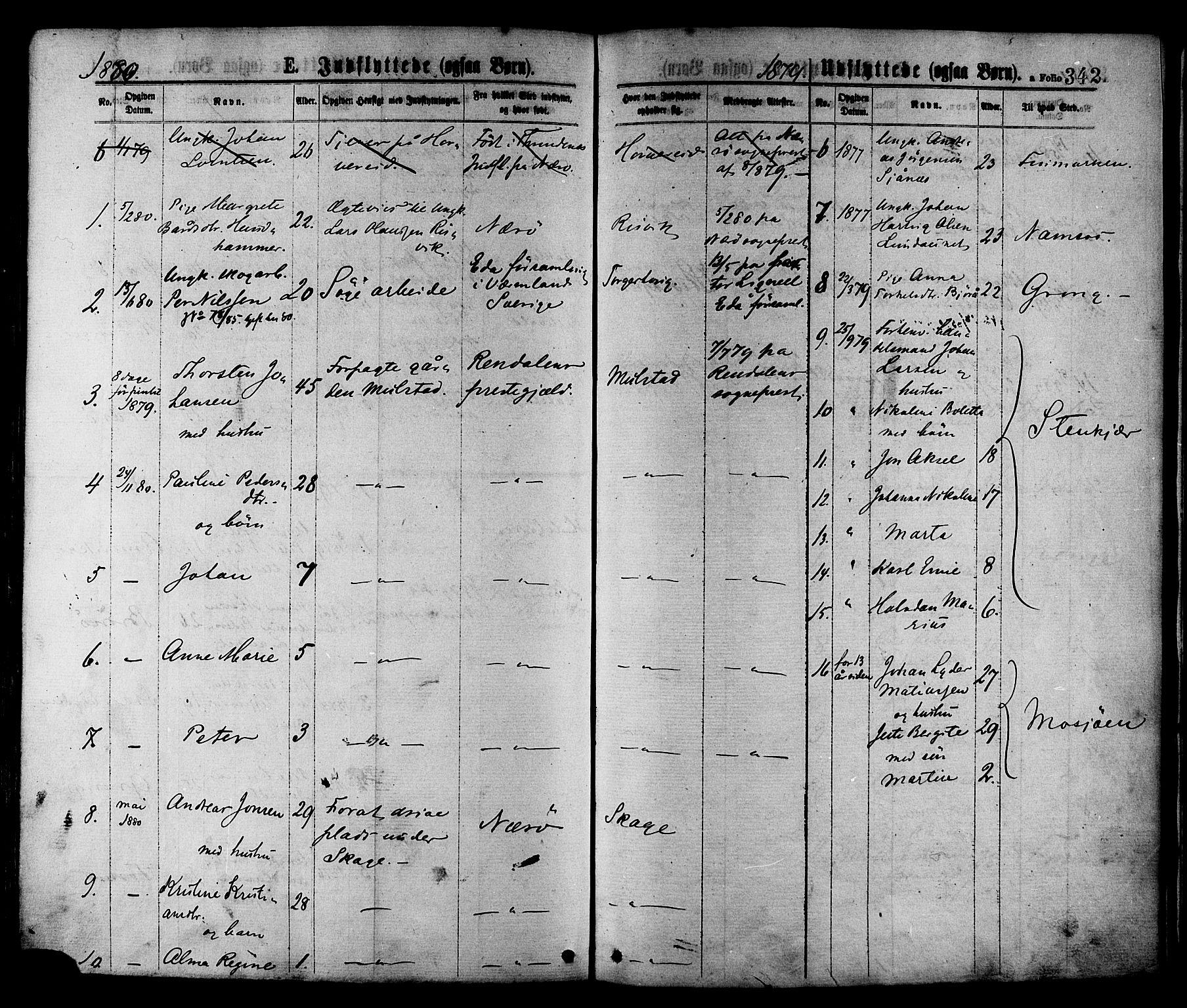 SAT, Ministerialprotokoller, klokkerbøker og fødselsregistre - Nord-Trøndelag, 780/L0642: Ministerialbok nr. 780A07 /1, 1874-1885, s. 342
