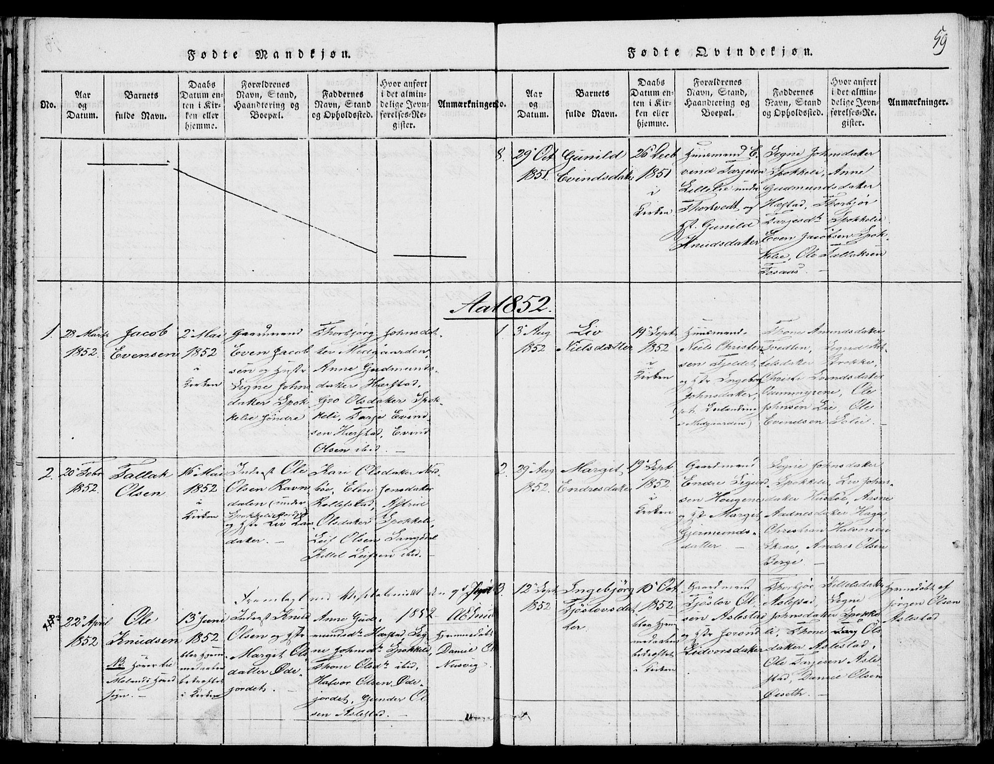 SAKO, Fyresdal kirkebøker, F/Fb/L0001: Ministerialbok nr. II 1, 1815-1854, s. 59
