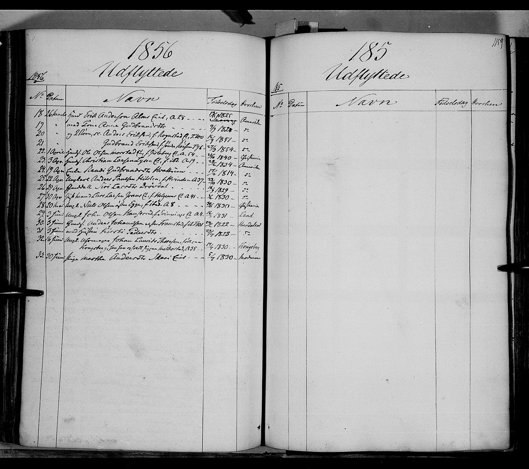 SAH, Gran prestekontor, Ministerialbok nr. 11, 1842-1856, s. 1158-1159