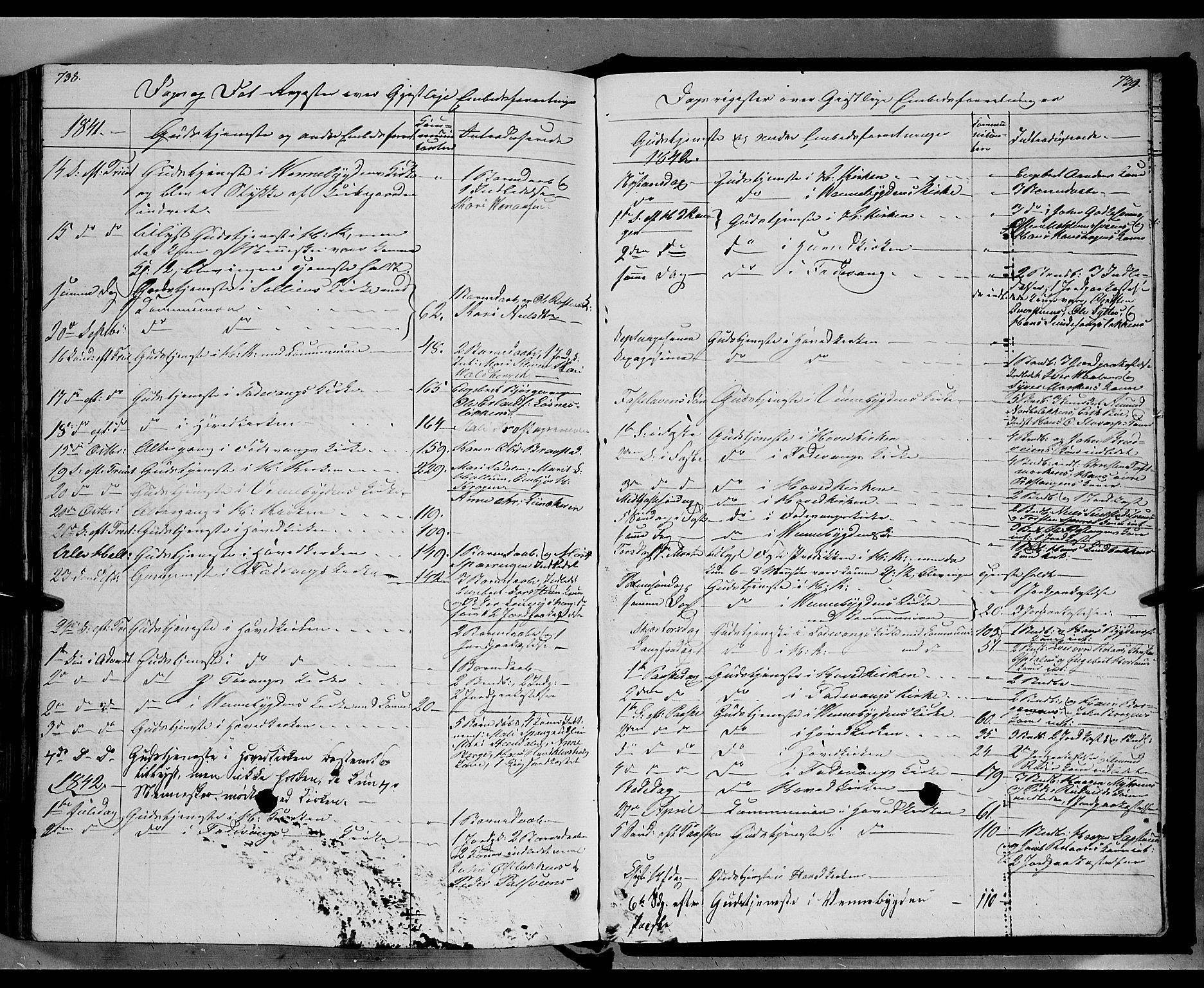 SAH, Ringebu prestekontor, Ministerialbok nr. 5, 1839-1848, s. 738-739