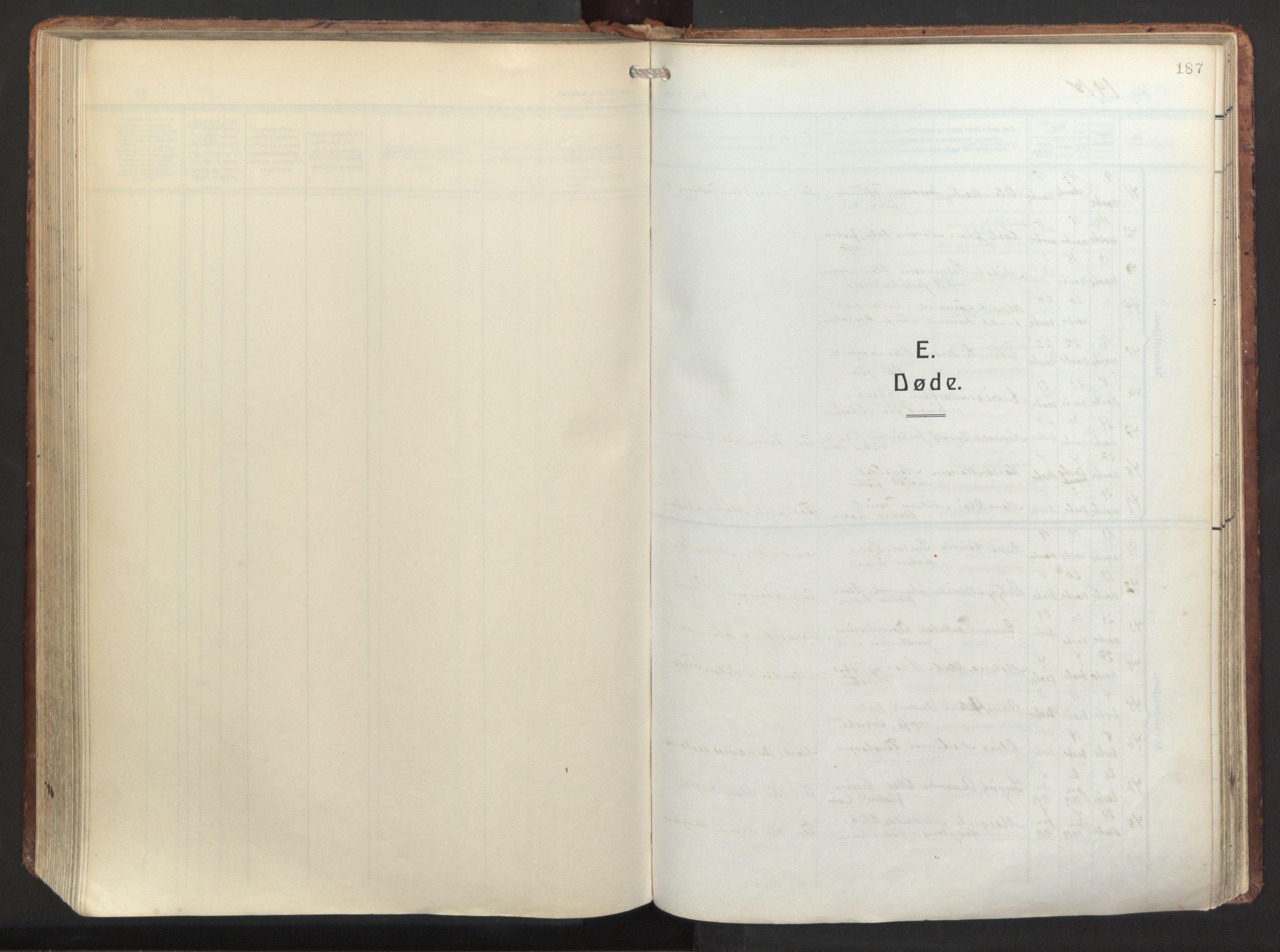 SAB, Herdla Sokneprestembete, H/Haa: Ministerialbok nr. A 6, 1918-1933, s. 187