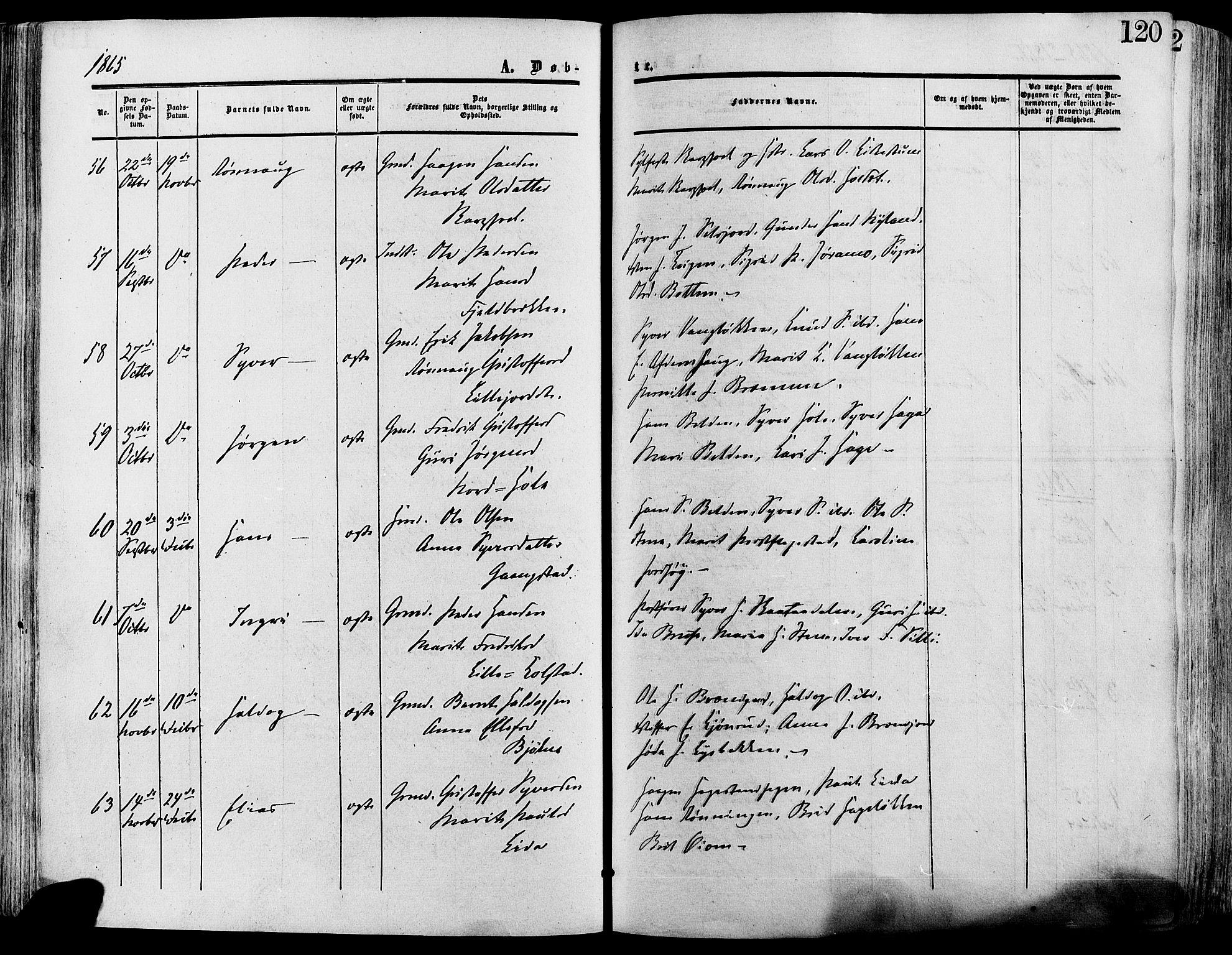 SAH, Lesja prestekontor, Ministerialbok nr. 8, 1854-1880, s. 120