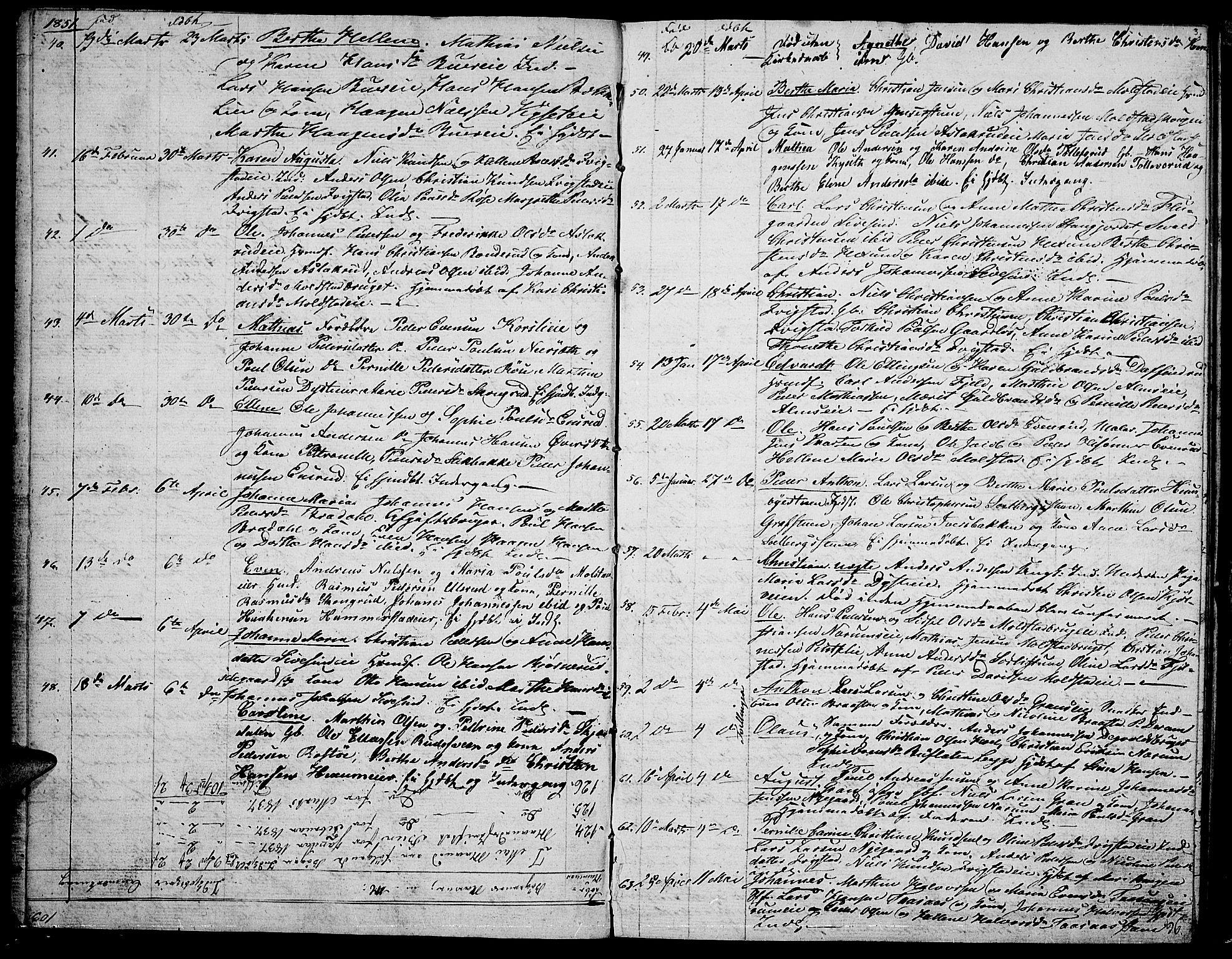 SAH, Vestre Toten prestekontor, Klokkerbok nr. 4, 1851-1853, s. 3
