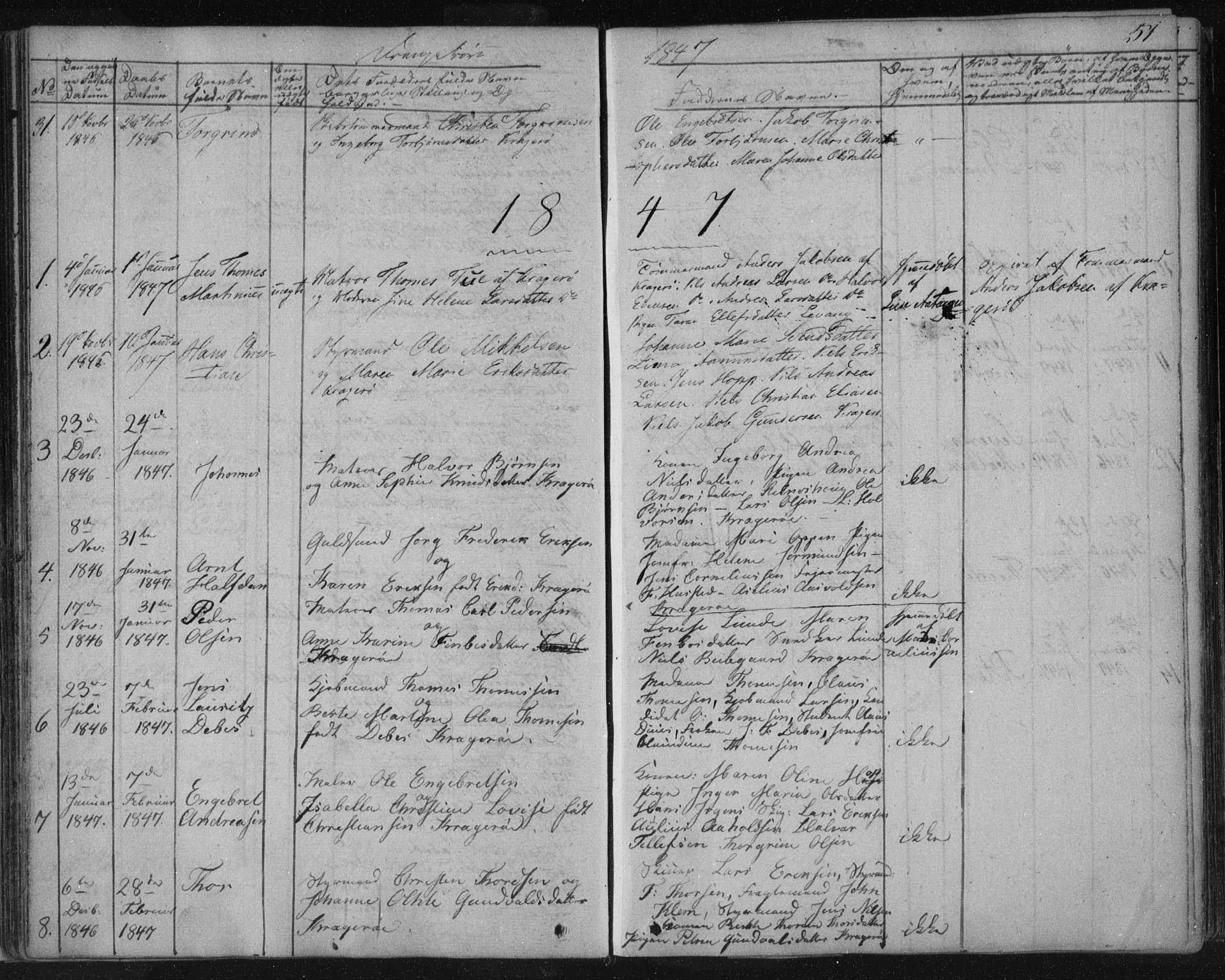 SAKO, Kragerø kirkebøker, F/Fa/L0005: Ministerialbok nr. 5, 1832-1847, s. 51