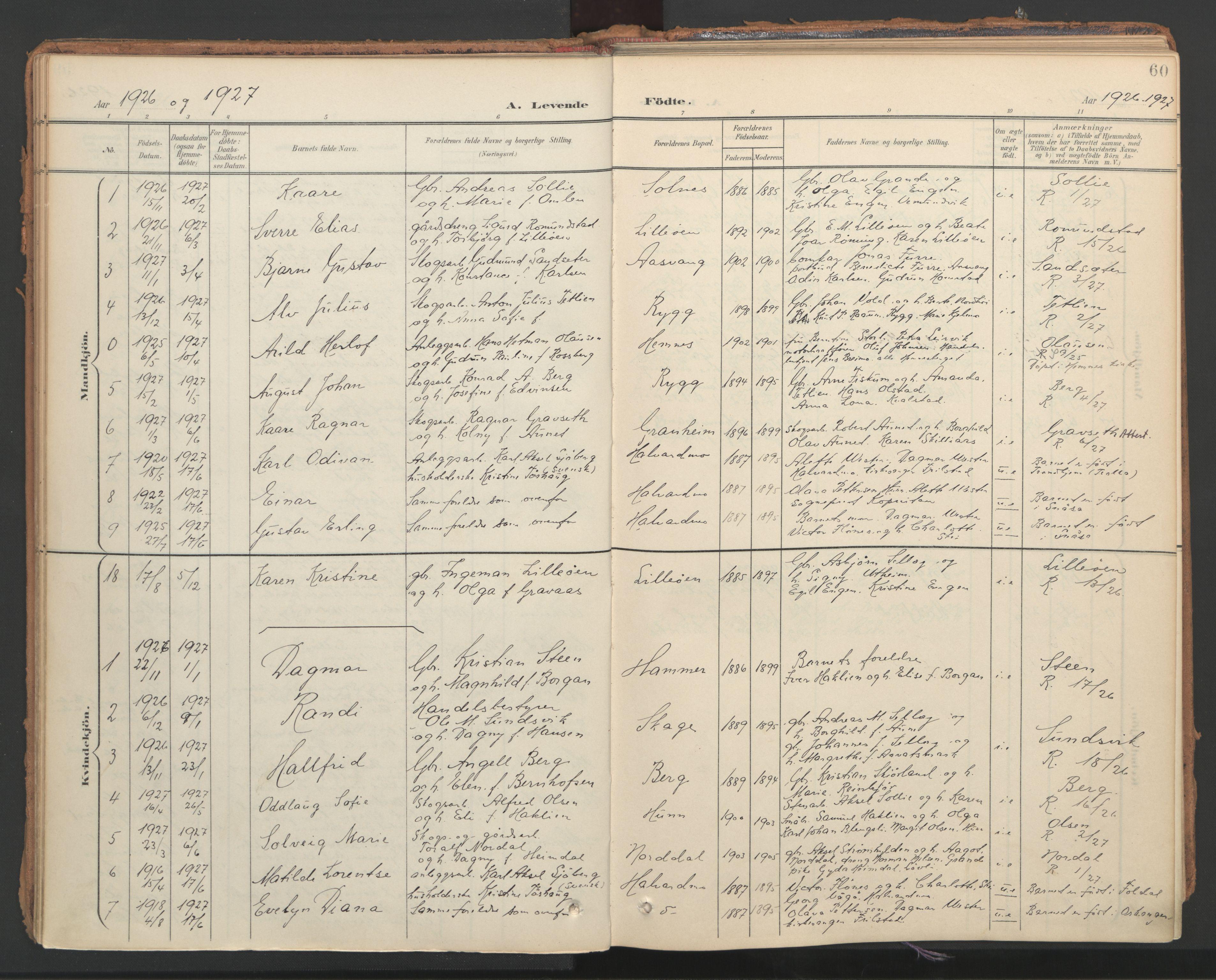 SAT, Ministerialprotokoller, klokkerbøker og fødselsregistre - Nord-Trøndelag, 766/L0564: Ministerialbok nr. 767A02, 1900-1932, s. 60