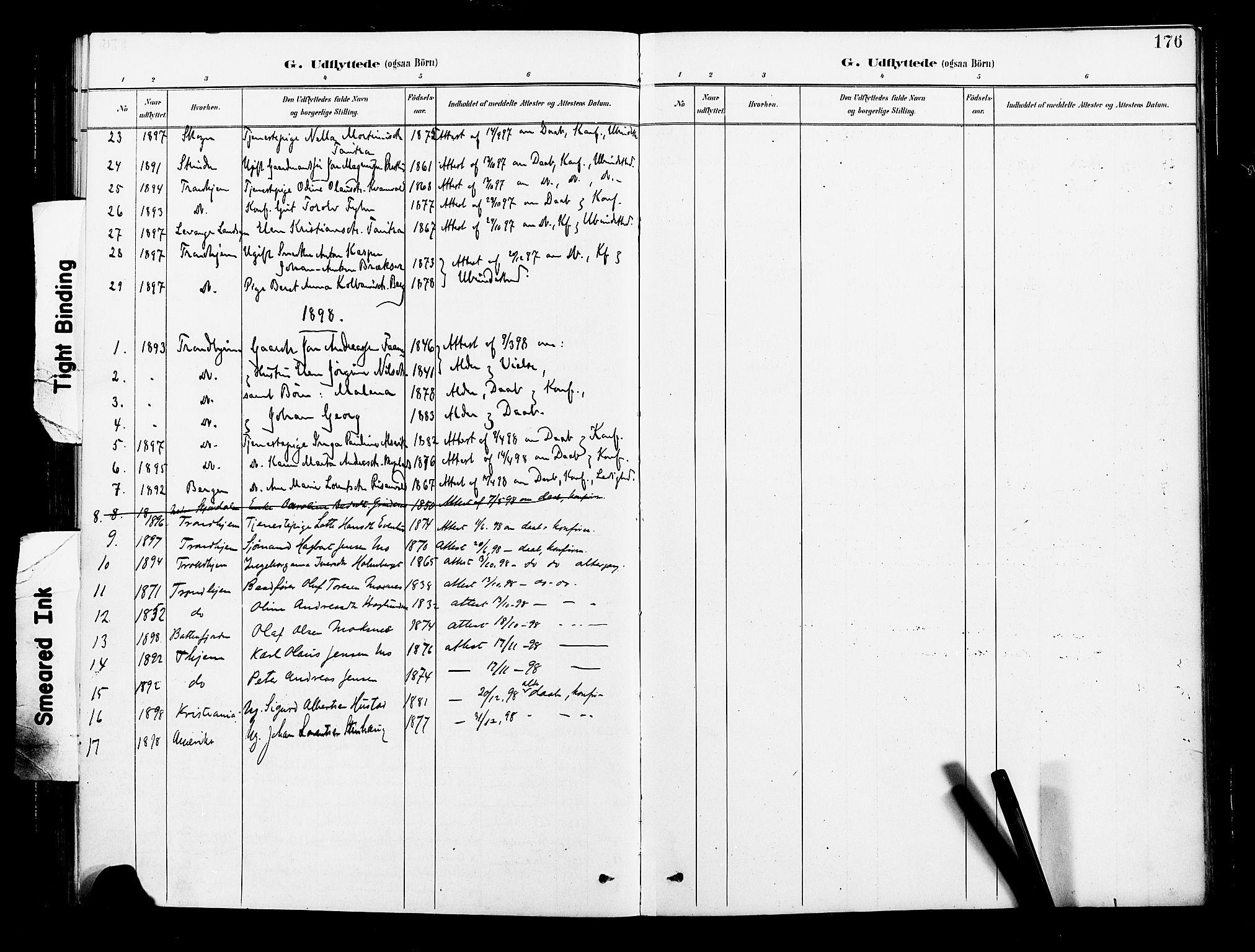 SAT, Ministerialprotokoller, klokkerbøker og fødselsregistre - Nord-Trøndelag, 713/L0121: Ministerialbok nr. 713A10, 1888-1898, s. 176