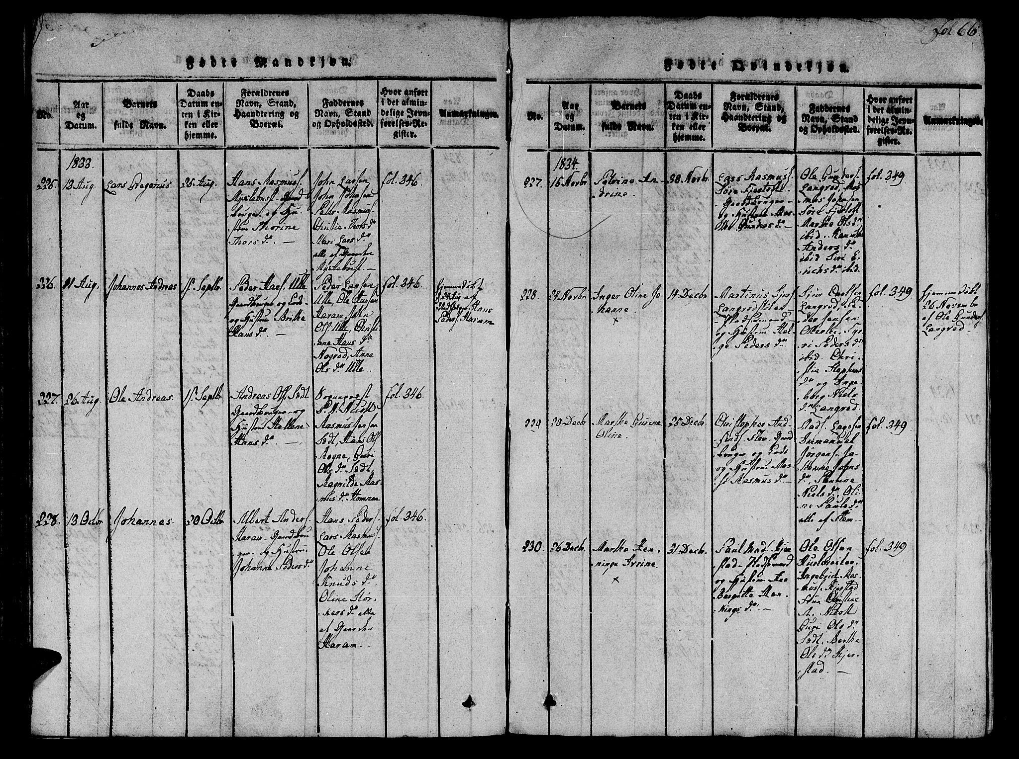 SAT, Ministerialprotokoller, klokkerbøker og fødselsregistre - Møre og Romsdal, 536/L0495: Ministerialbok nr. 536A04, 1818-1847, s. 66