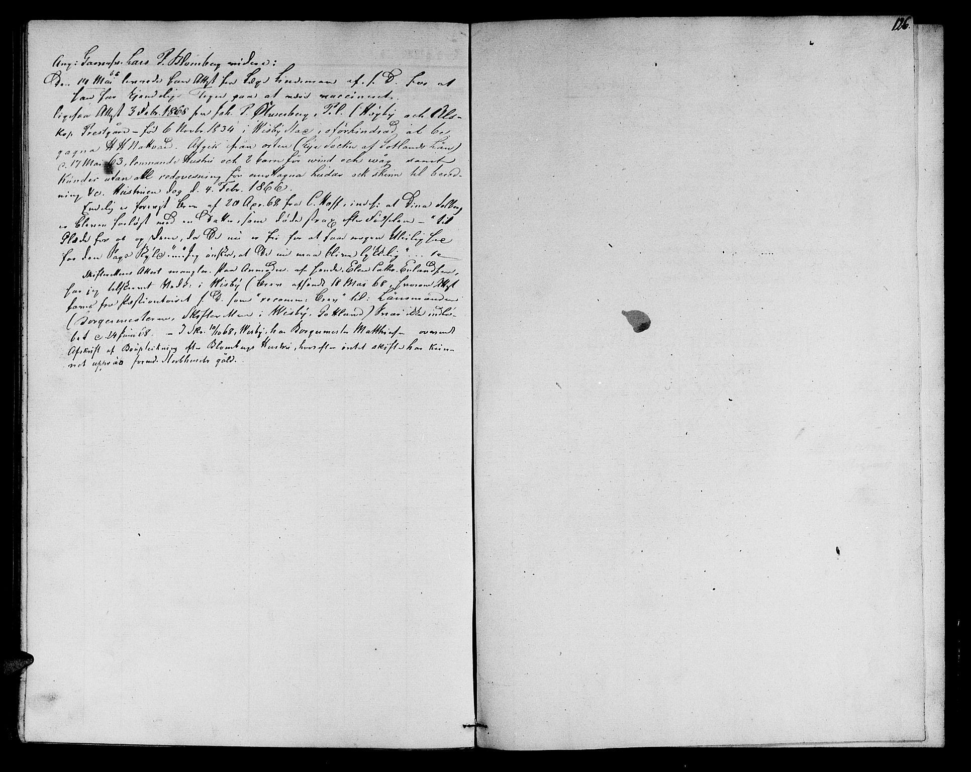 SAT, Ministerialprotokoller, klokkerbøker og fødselsregistre - Sør-Trøndelag, 602/L0111: Ministerialbok nr. 602A09, 1844-1867, s. 126