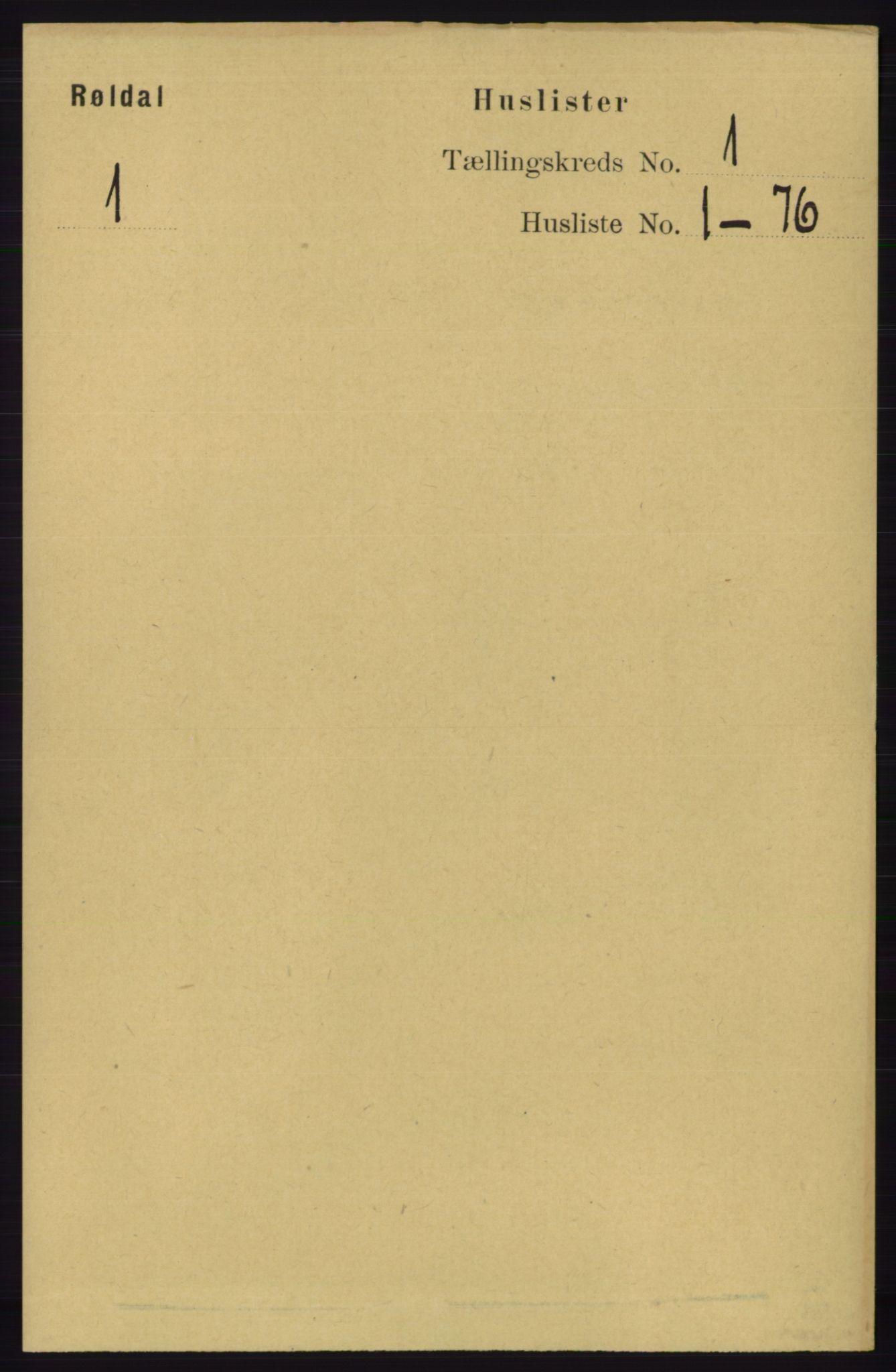 RA, Folketelling 1891 for 1229 Røldal herred, 1891, s. 13