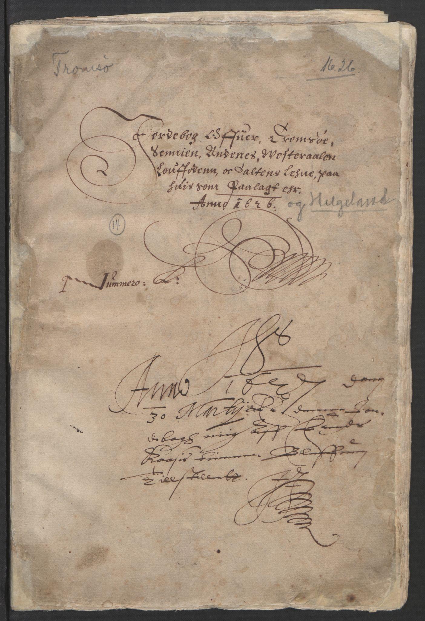 RA, Stattholderembetet 1572-1771, Ek/L0006: Jordebøker til utlikning av garnisonsskatt 1624-1626:, 1626, s. 3