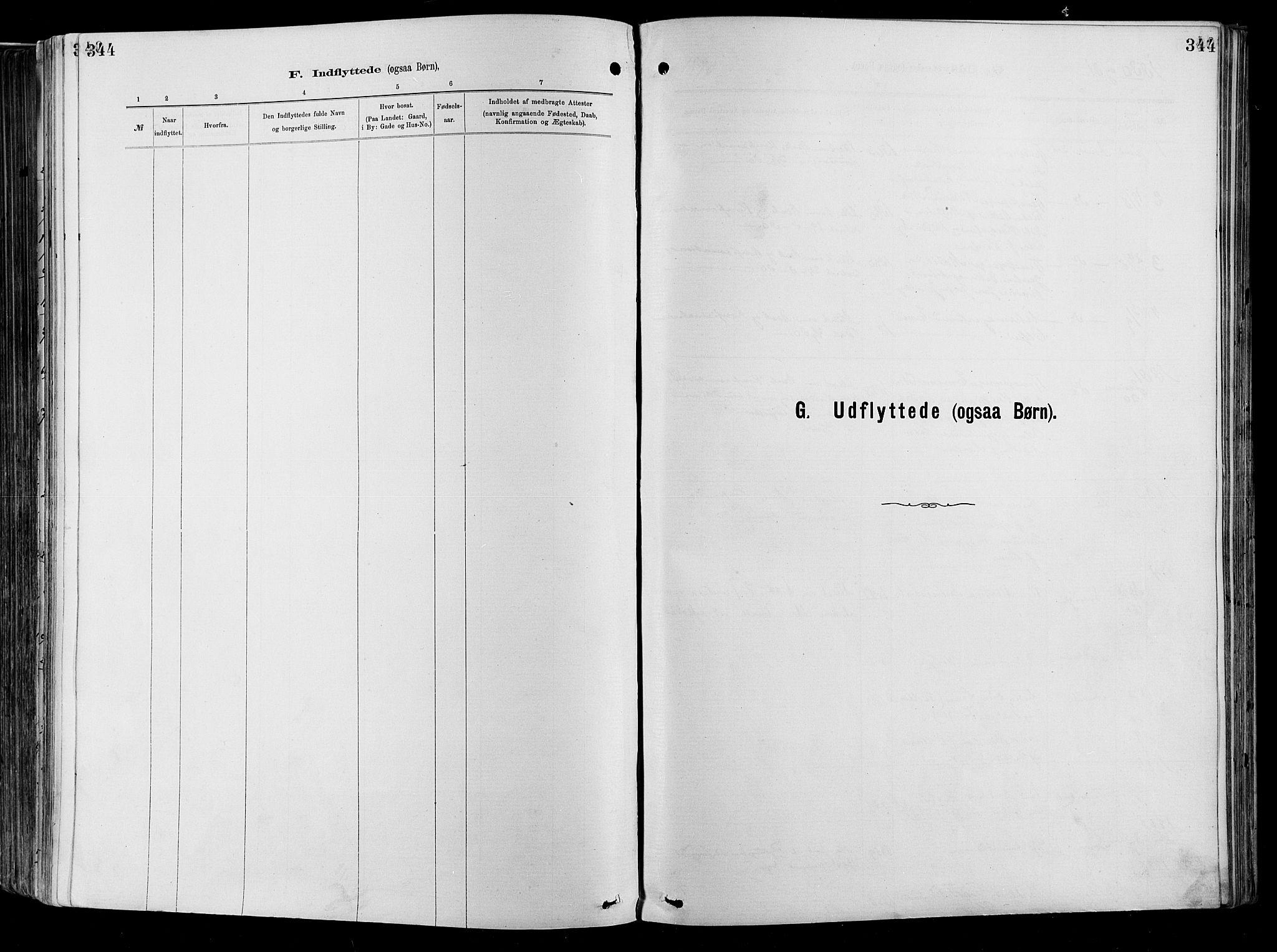 SAO, Garnisonsmenigheten Kirkebøker, F/Fa/L0012: Ministerialbok nr. 12, 1880-1893, s. 344