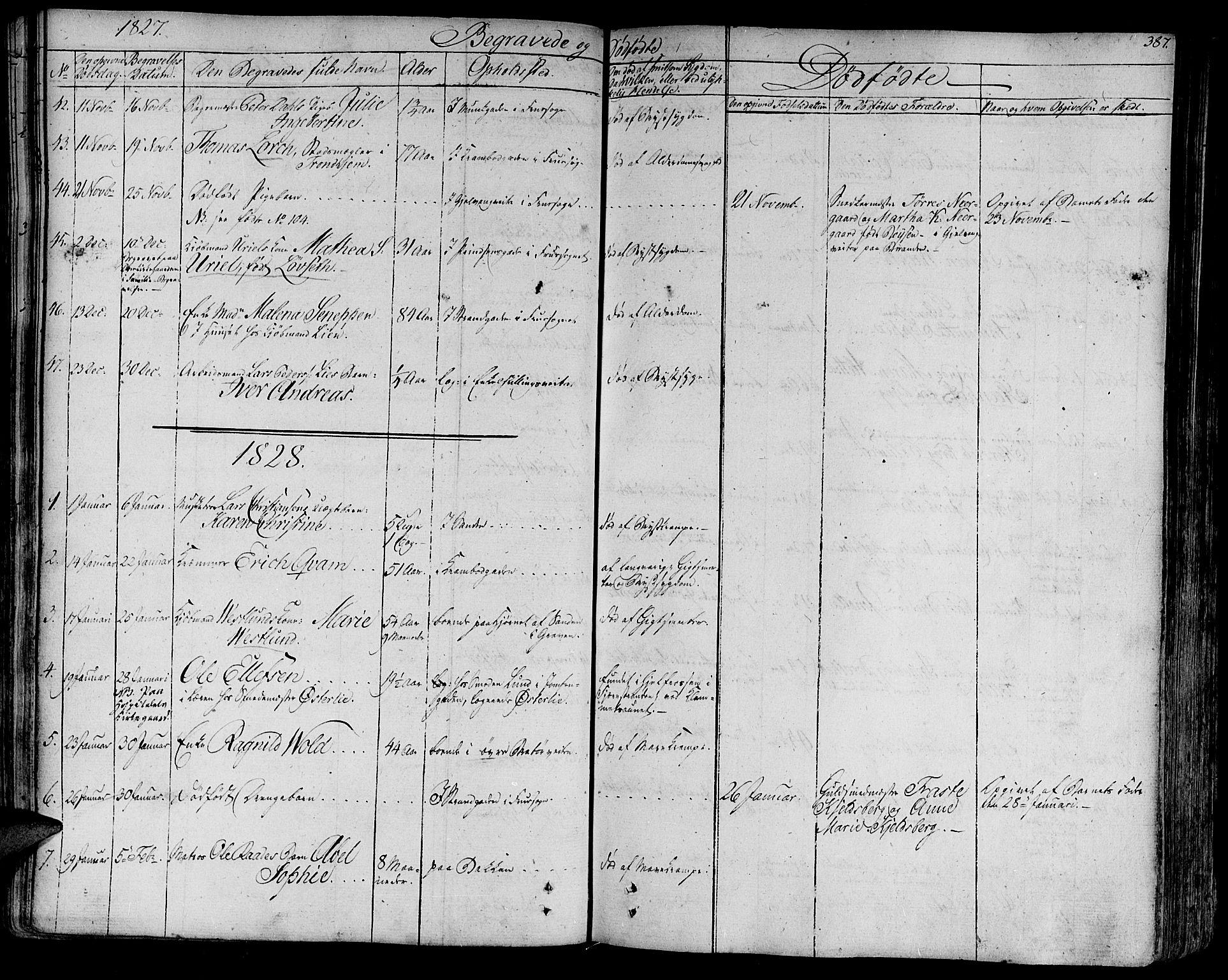 SAT, Ministerialprotokoller, klokkerbøker og fødselsregistre - Sør-Trøndelag, 602/L0109: Ministerialbok nr. 602A07, 1821-1840, s. 387
