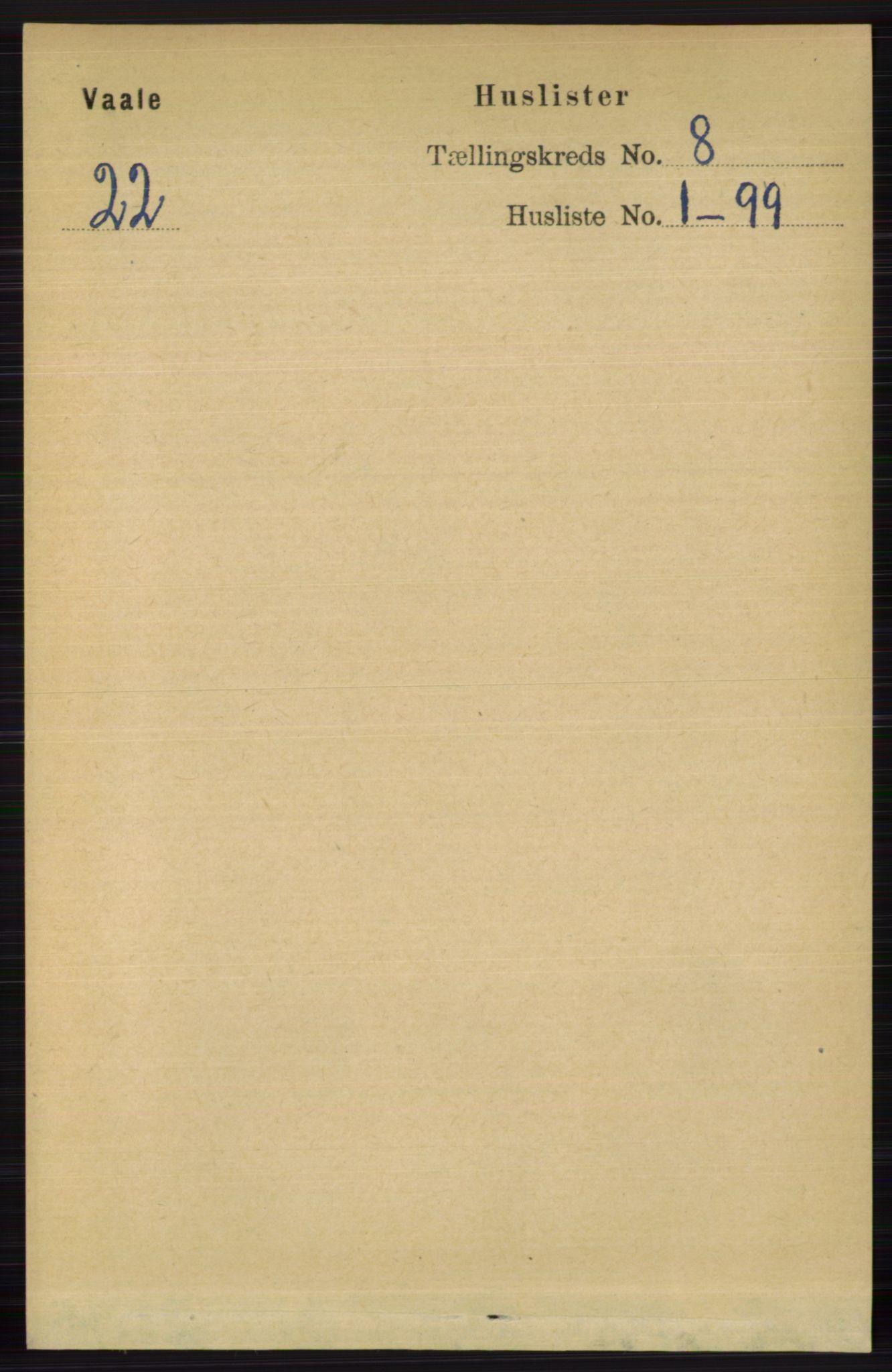 RA, Folketelling 1891 for 0716 Våle herred, 1891, s. 2760