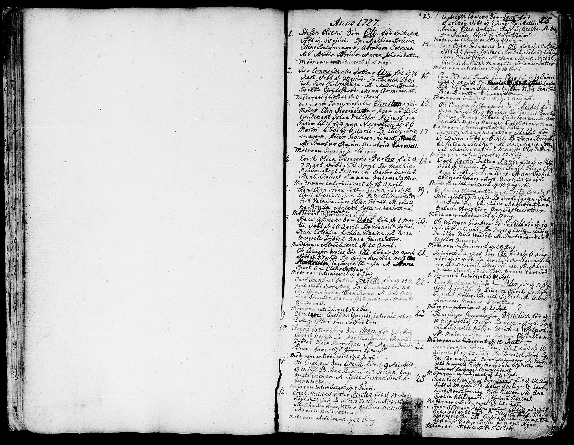 SAT, Ministerialprotokoller, klokkerbøker og fødselsregistre - Sør-Trøndelag, 681/L0925: Ministerialbok nr. 681A03, 1727-1766, s. 25