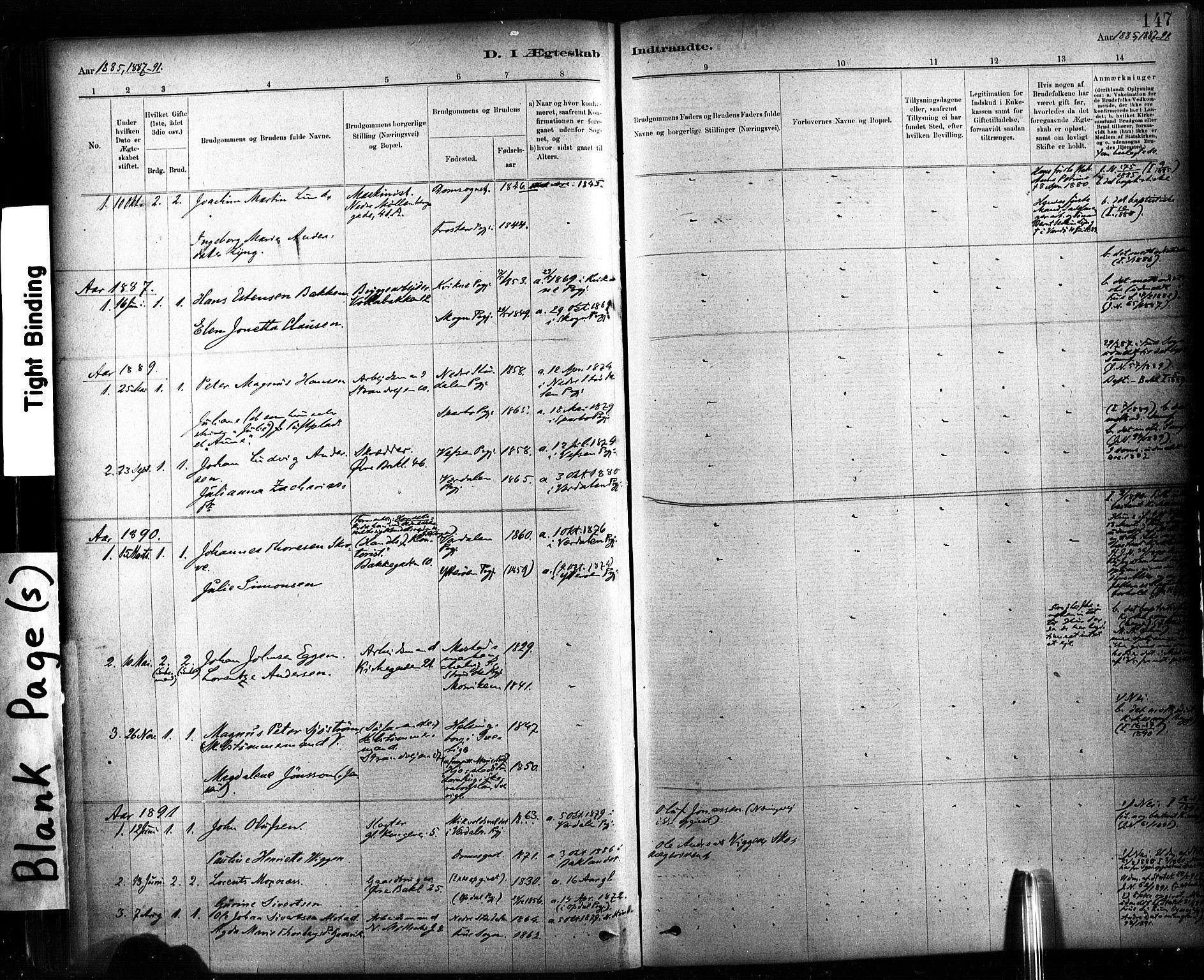 SAT, Ministerialprotokoller, klokkerbøker og fødselsregistre - Sør-Trøndelag, 604/L0189: Ministerialbok nr. 604A10, 1878-1892, s. 147