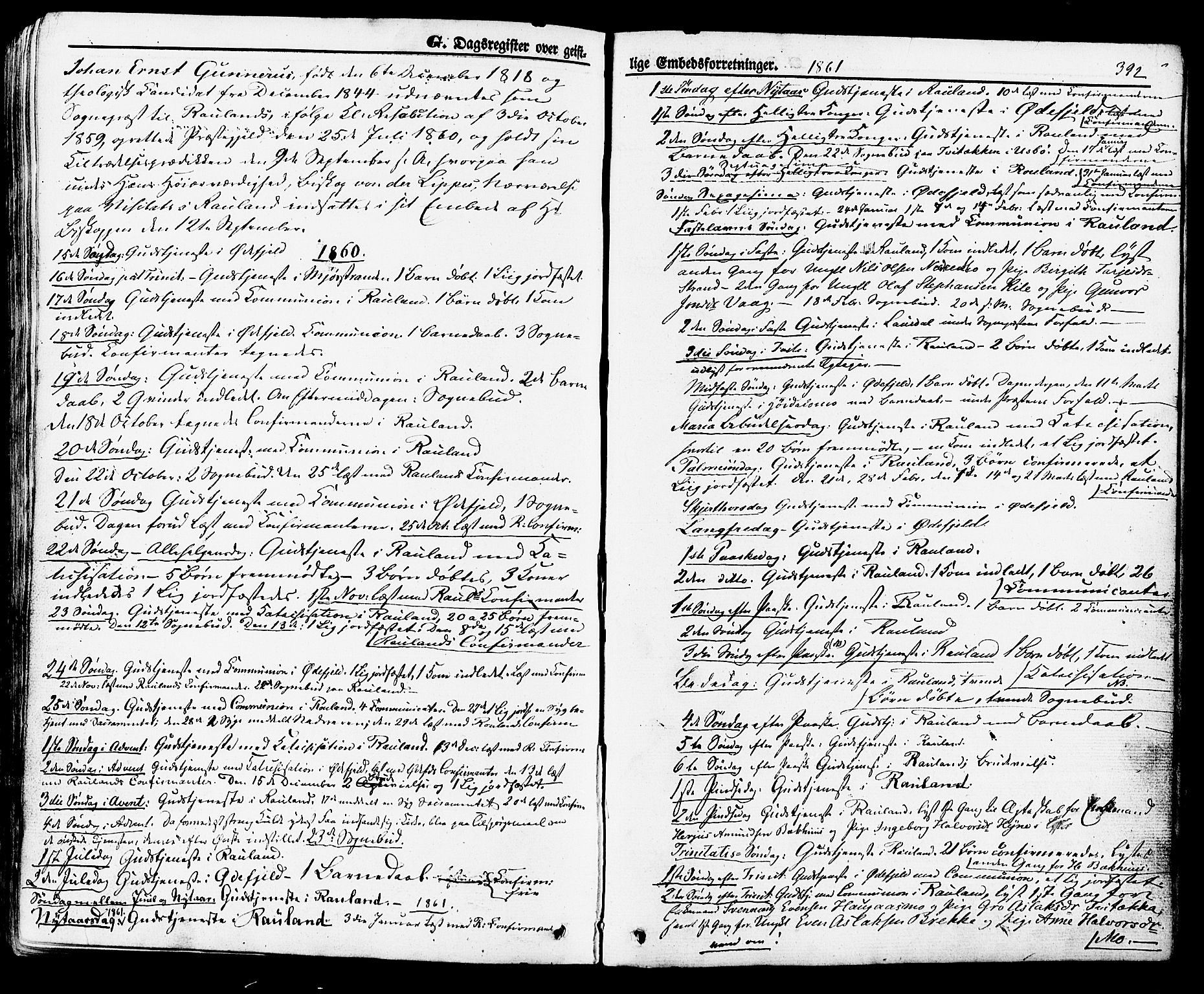 SAKO, Rauland kirkebøker, F/Fa/L0003: Ministerialbok nr. 3, 1859-1886, s. 392