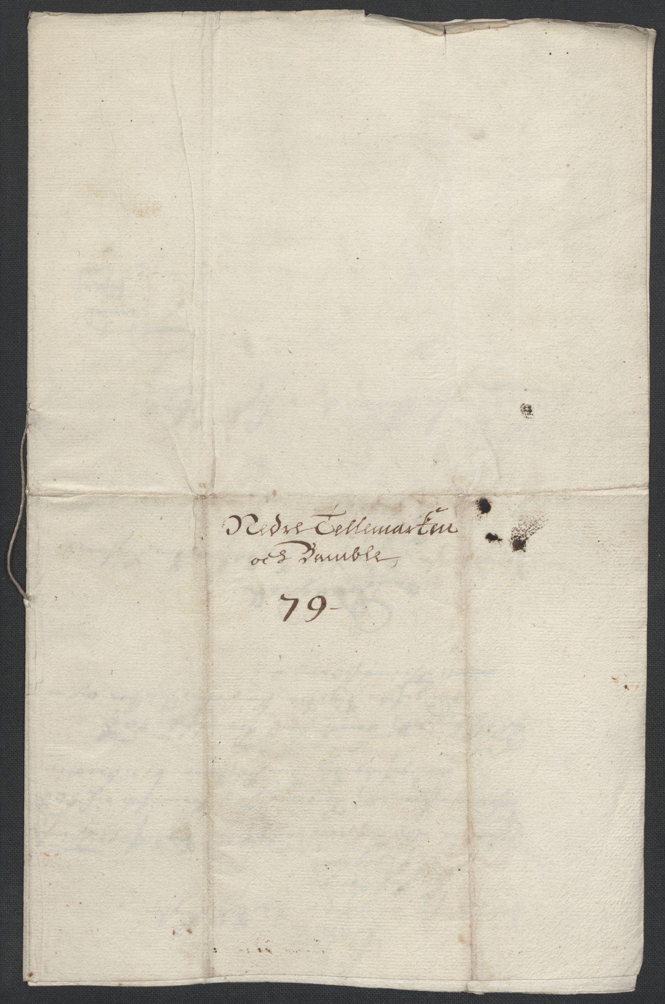 RA, Rentekammeret inntil 1814, Reviderte regnskaper, Fogderegnskap, R35/L2072: Fogderegnskap Øvre og Nedre Telemark, 1679, s. 250