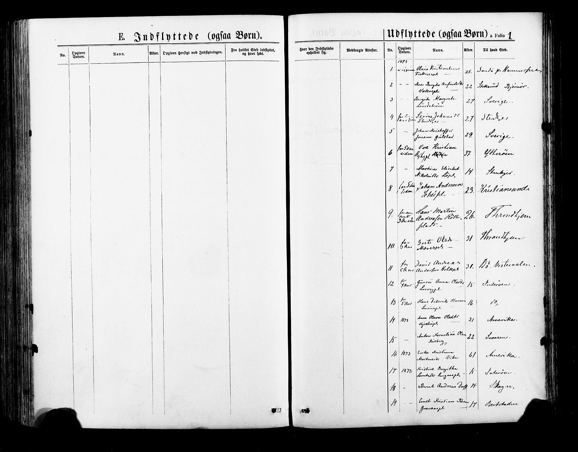 SAT, Ministerialprotokoller, klokkerbøker og fødselsregistre - Nord-Trøndelag, 735/L0348: Ministerialbok nr. 735A09 /1, 1873-1883, s. 1