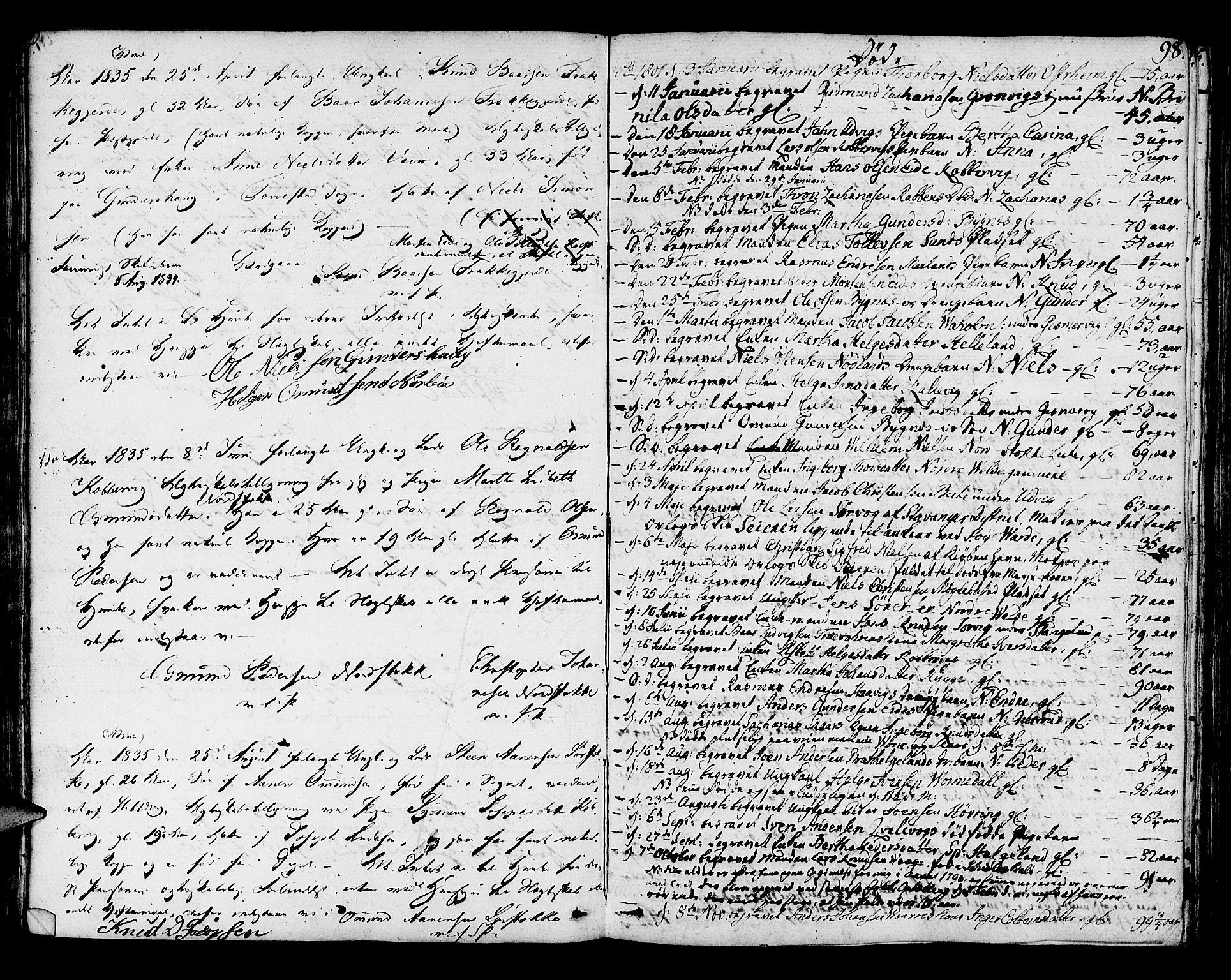 SAST, Avaldsnes sokneprestkontor, H/Ha/Haa/L0003: Ministerialbok nr. A 3, 1801-1817, s. 98