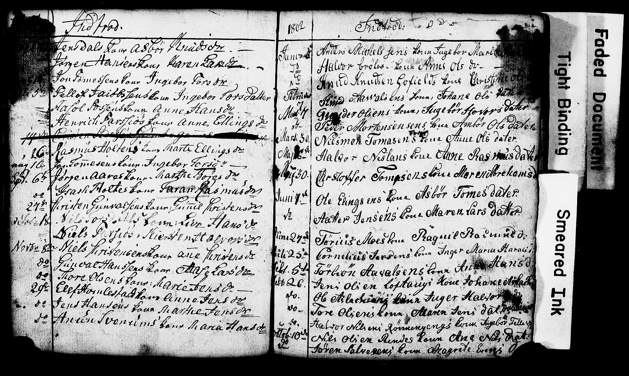 SAKO, Sannidal kirkebøker, G/Ga/L0001: Klokkerbok nr. 1, 1782-1816