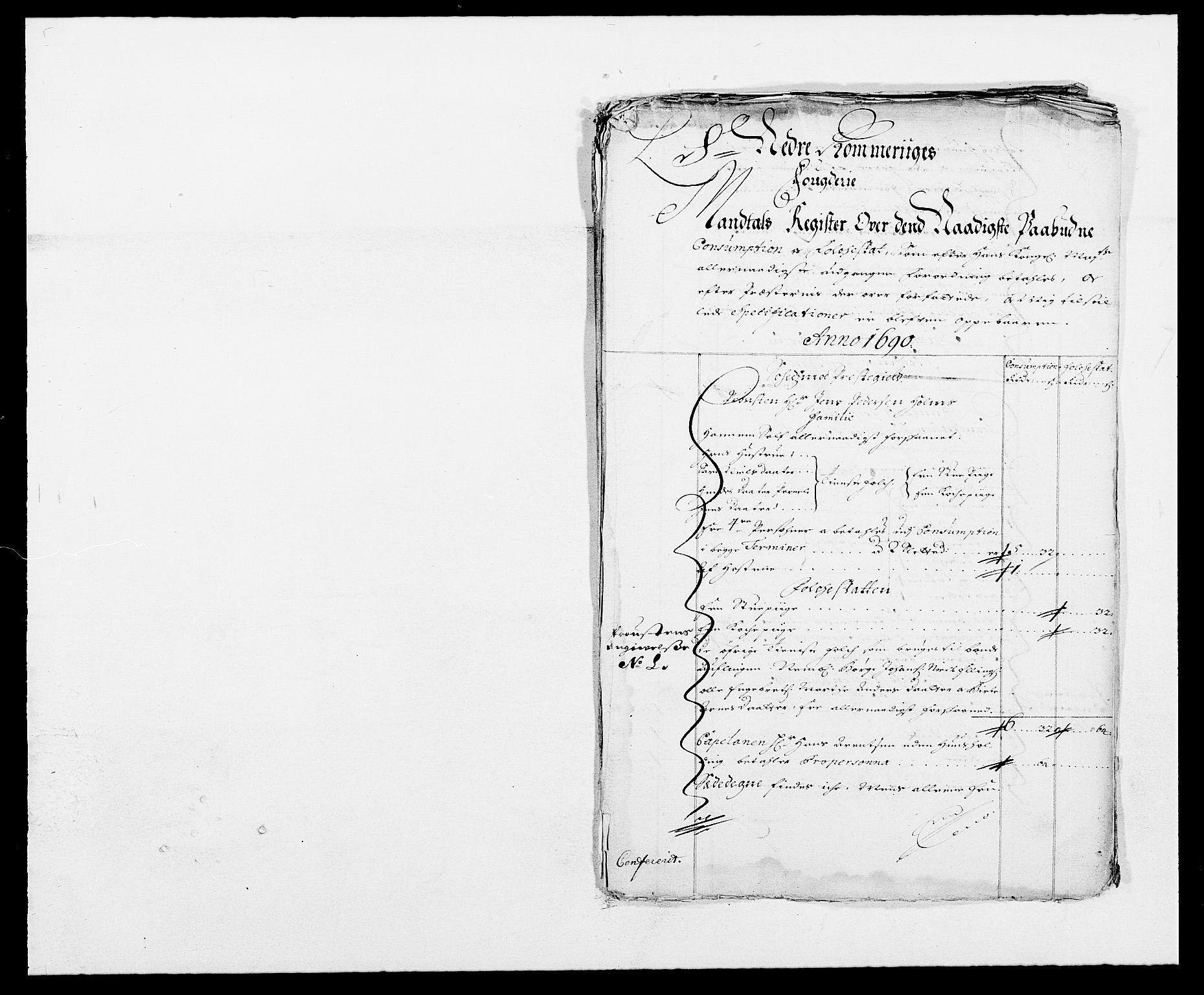 RA, Rentekammeret inntil 1814, Reviderte regnskaper, Fogderegnskap, R11/L0574: Fogderegnskap Nedre Romerike, 1689-1690, s. 388