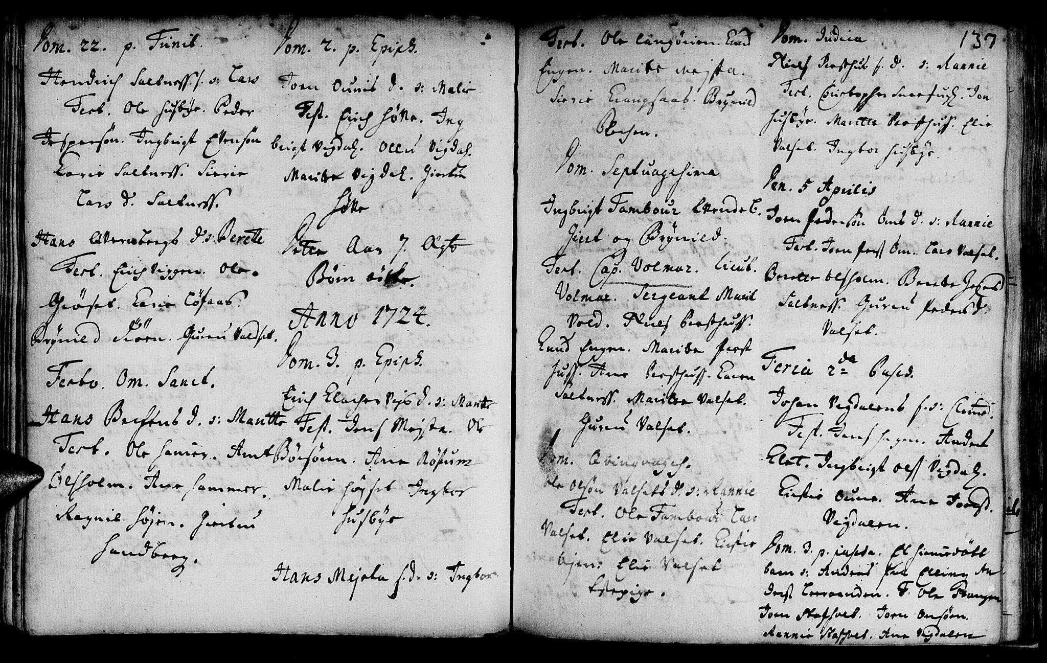 SAT, Ministerialprotokoller, klokkerbøker og fødselsregistre - Sør-Trøndelag, 666/L0783: Ministerialbok nr. 666A01, 1702-1753, s. 137