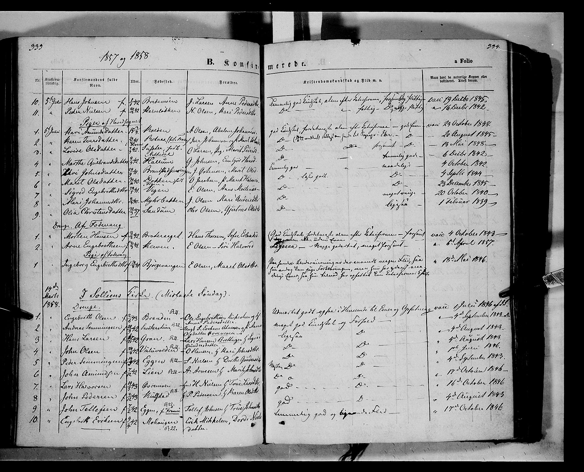 SAH, Ringebu prestekontor, Ministerialbok nr. 6, 1848-1859, s. 333-334