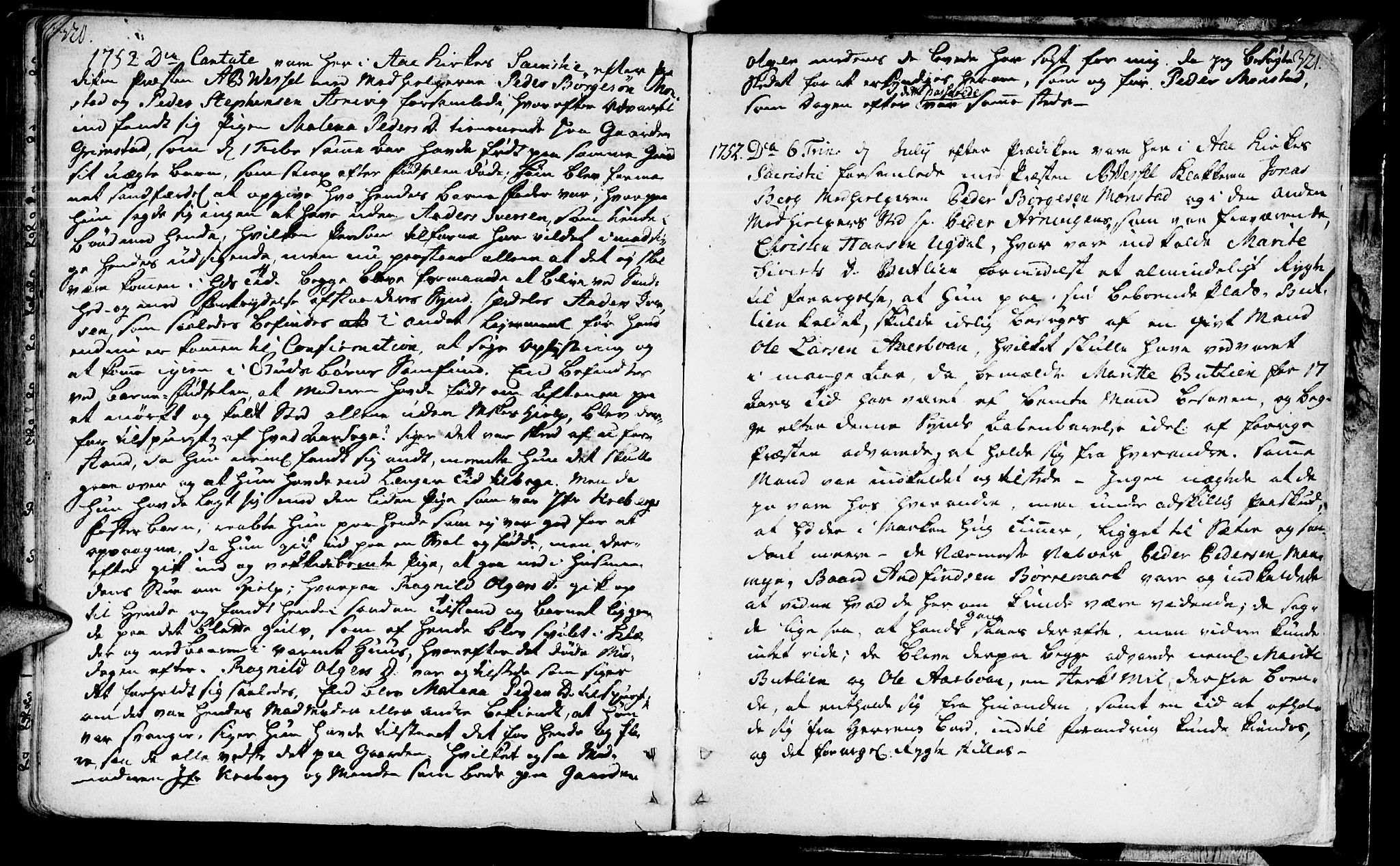 SAT, Ministerialprotokoller, klokkerbøker og fødselsregistre - Sør-Trøndelag, 655/L0672: Ministerialbok nr. 655A01, 1750-1779, s. 320-321