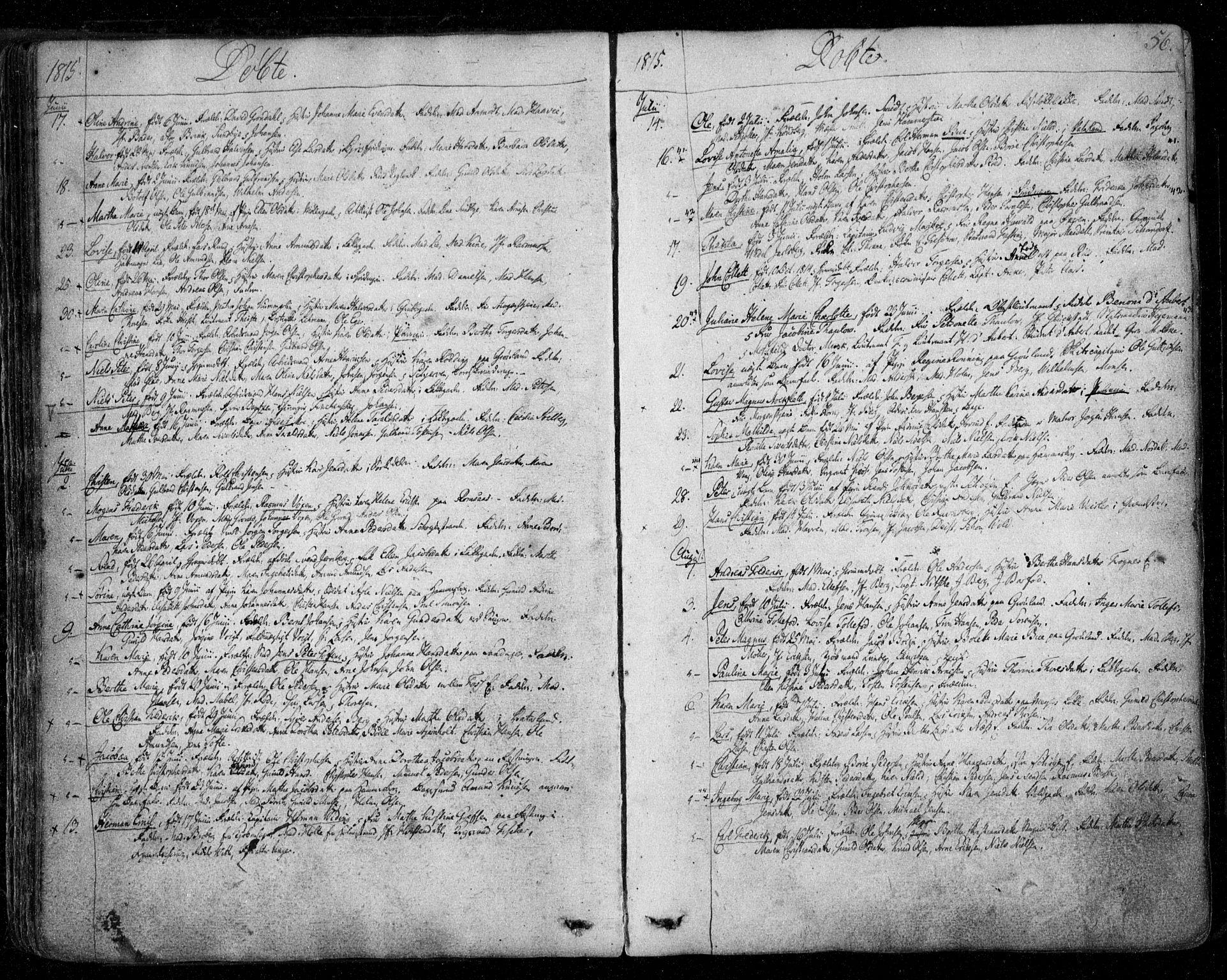 SAO, Aker prestekontor kirkebøker, F/L0011: Ministerialbok nr. 11, 1810-1819, s. 56